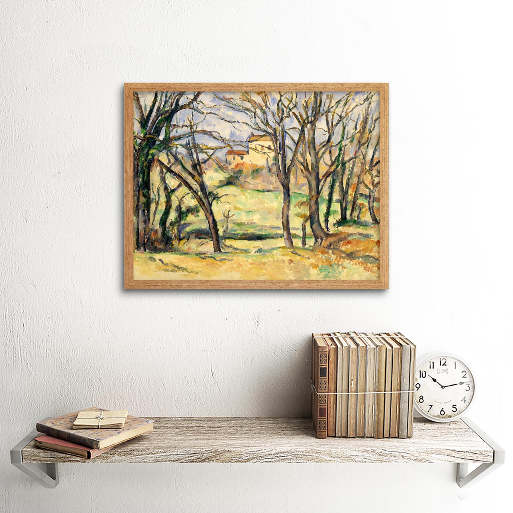 Cezanne-Trees-Houses-Near-Jas-De-Bouffan-Painting-Wall-Art-Print-Framed-12x16 miniatuur 15