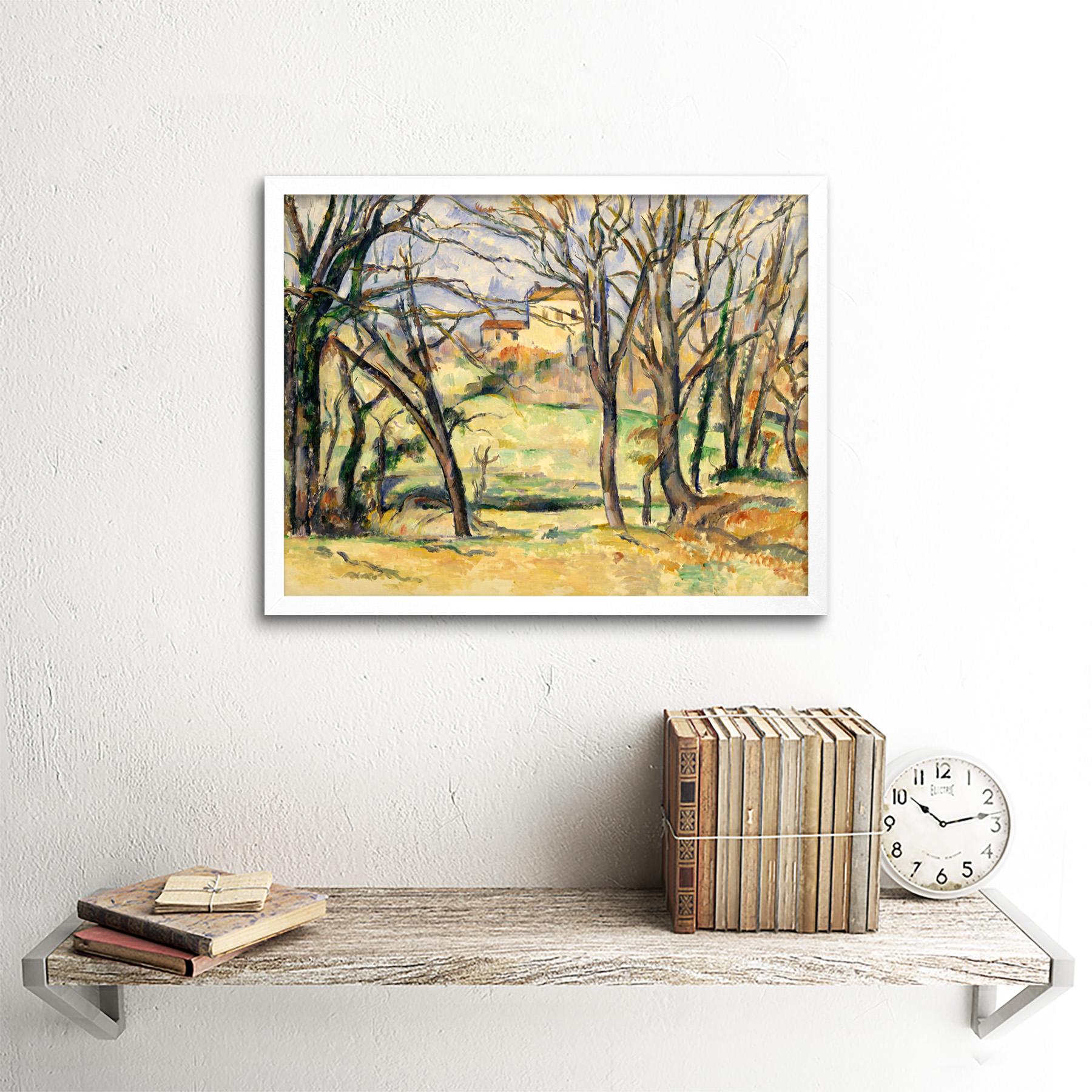 Cezanne-Trees-Houses-Near-Jas-De-Bouffan-Painting-Wall-Art-Print-Framed-12x16 miniatuur 21
