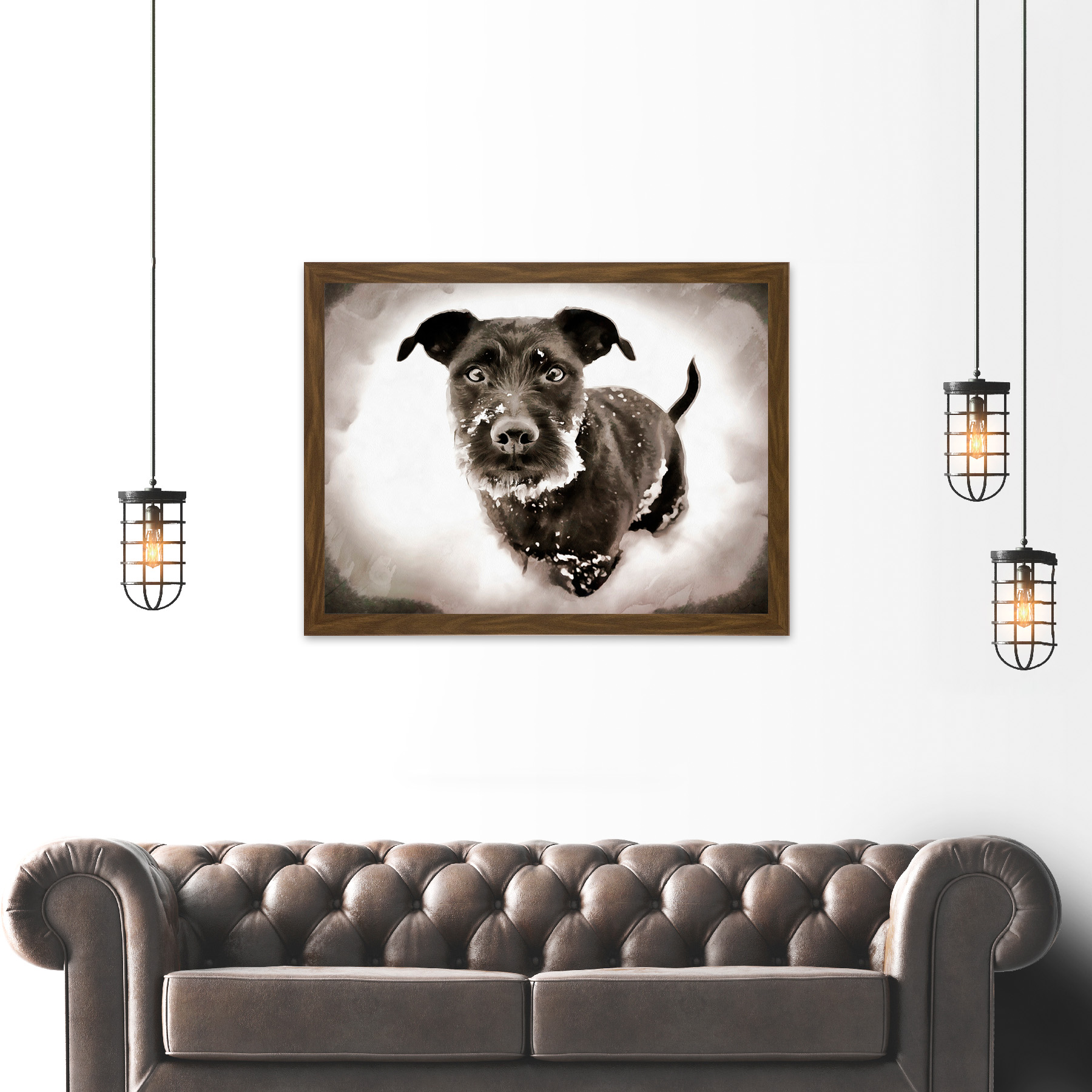 Surprising Details About Photo Painting Cute Puppy Dog Winter Snow Large Framed Art Print Cjindustries Chair Design For Home Cjindustriesco