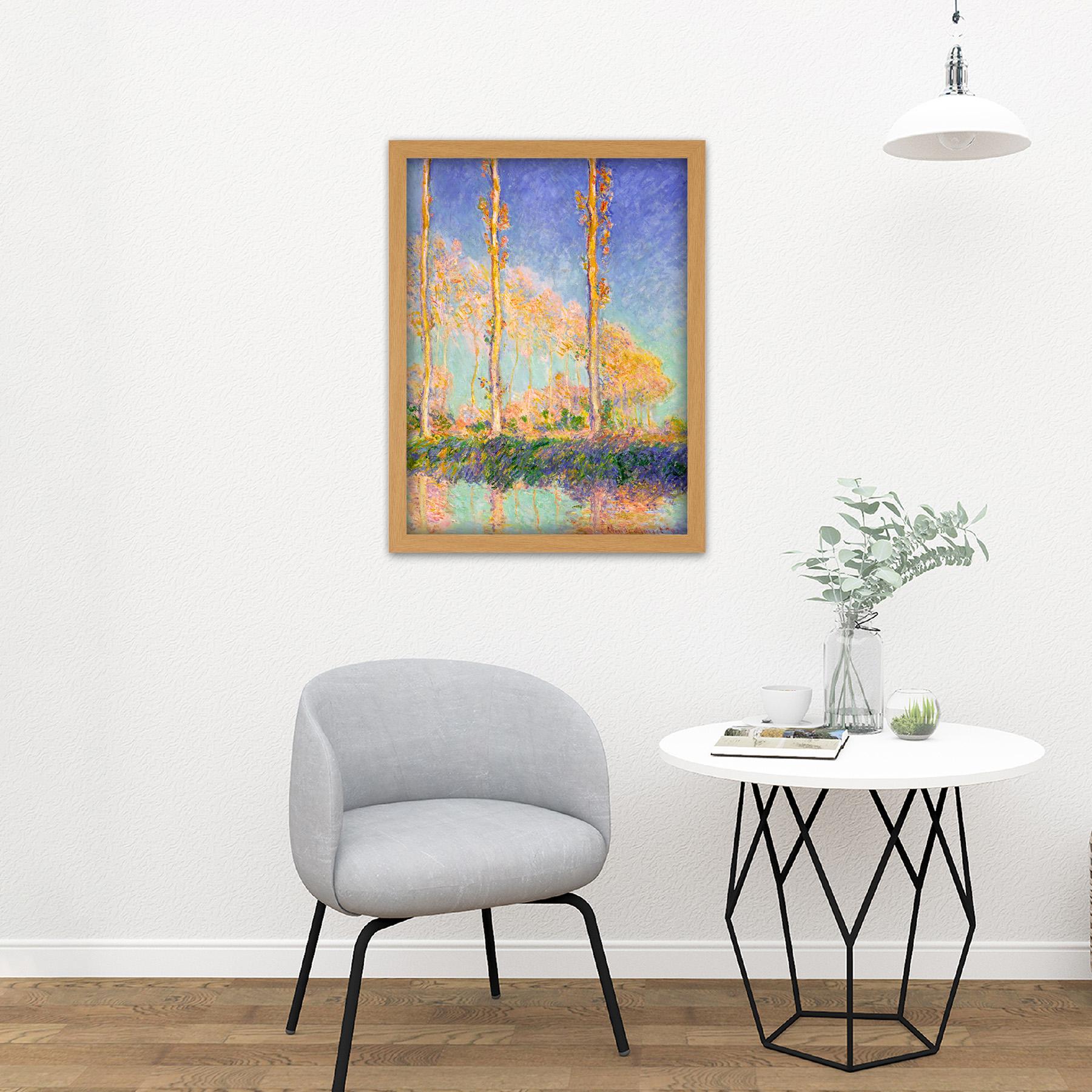 Claude-Monet-French-Poplars-Large-Framed-Art-Print thumbnail 18