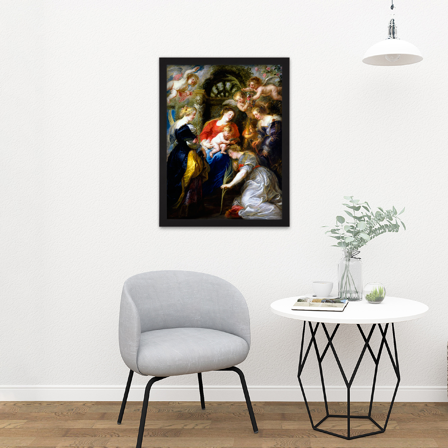 Rubens-Crowning-Of-Saint-Catherine-Large-Framed-Art-Print thumbnail 8