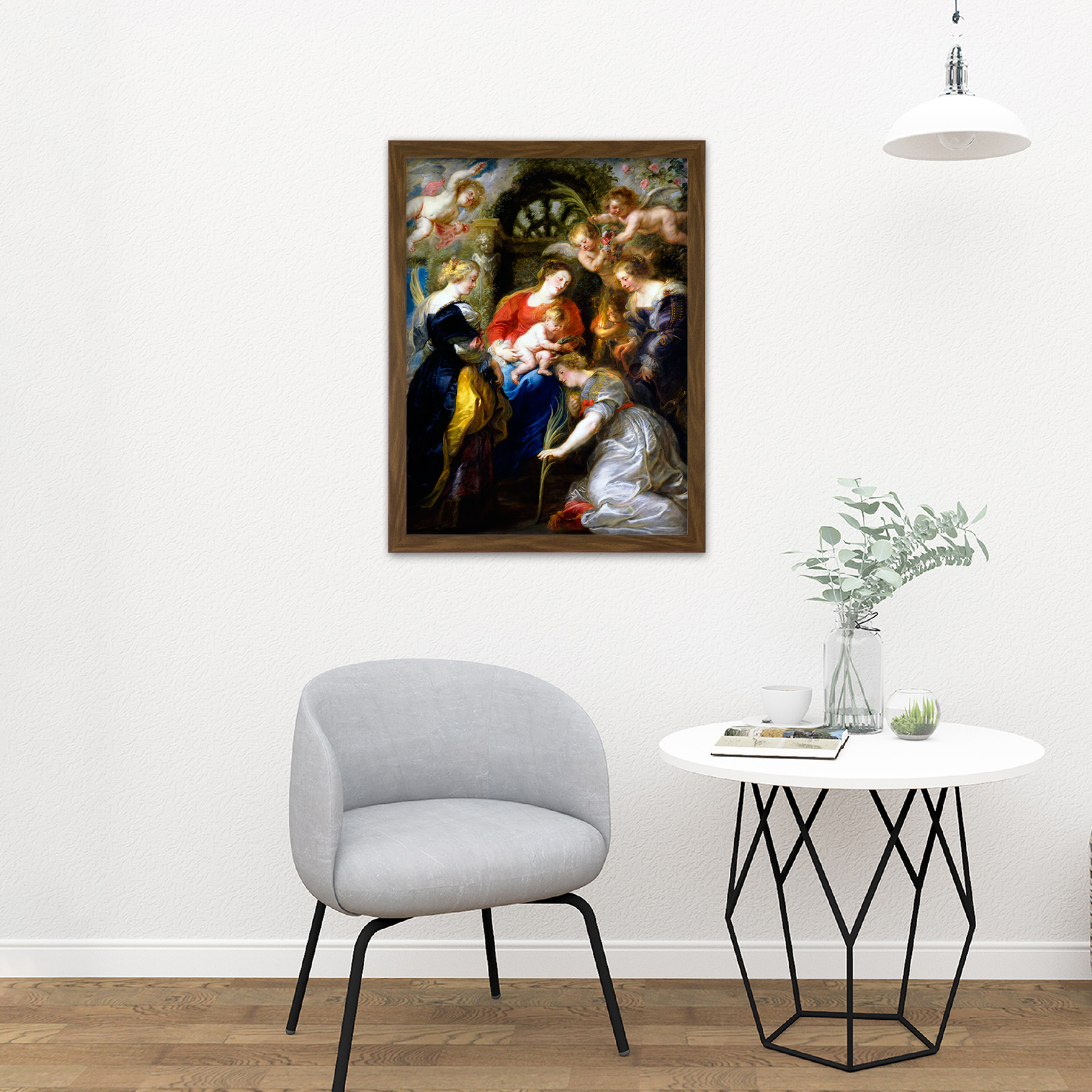 Rubens-Crowning-Of-Saint-Catherine-Large-Framed-Art-Print thumbnail 13