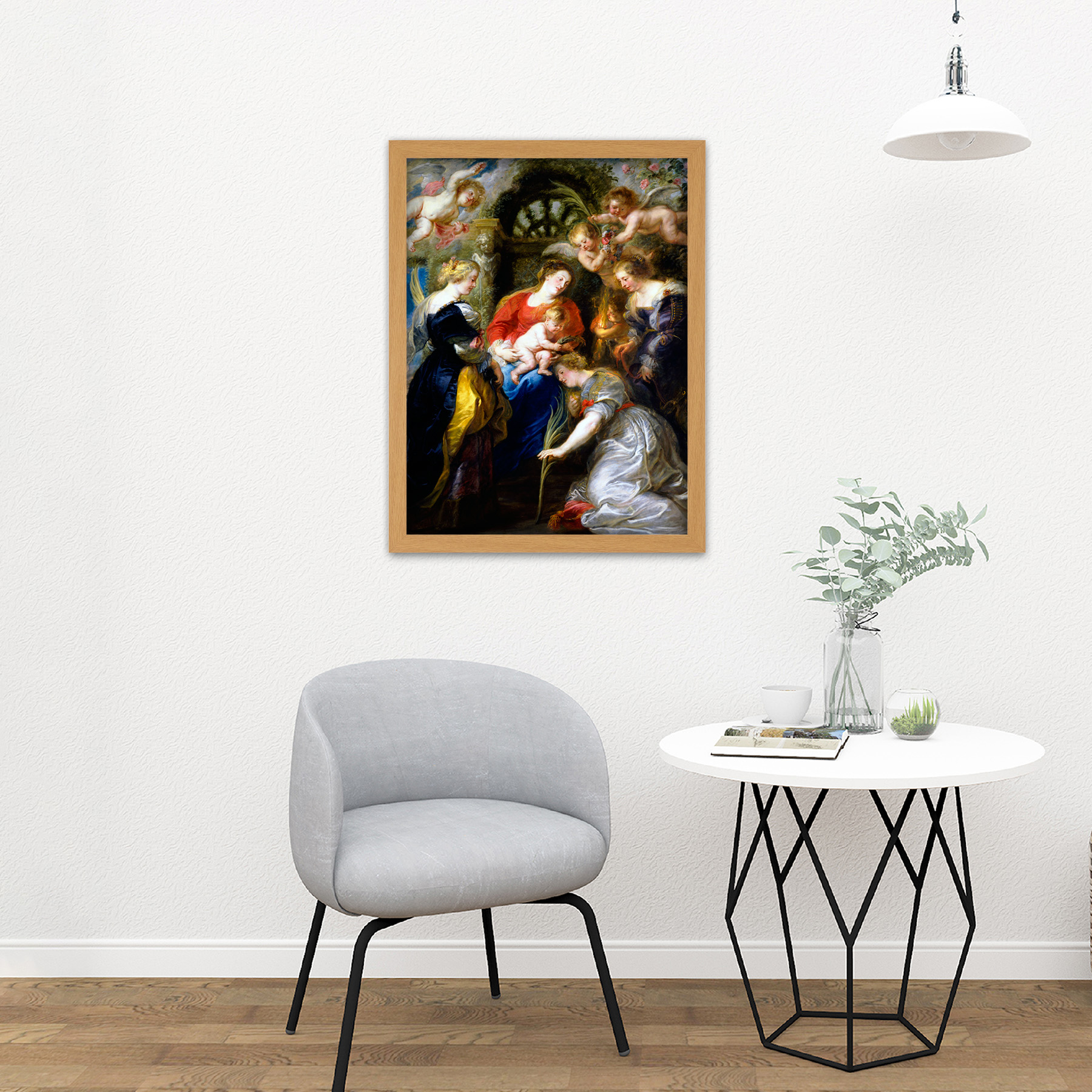 Rubens-Crowning-Of-Saint-Catherine-Large-Framed-Art-Print thumbnail 18