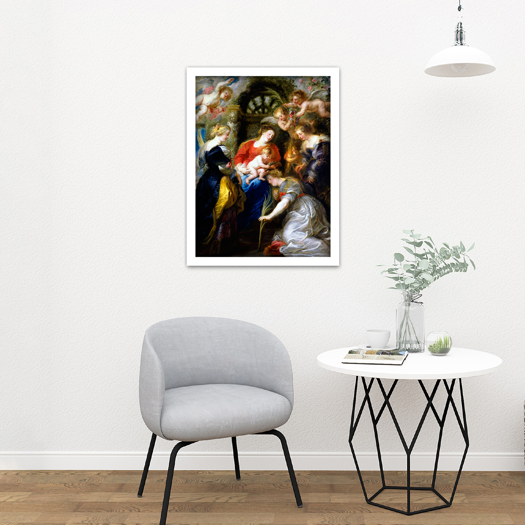 Rubens-Crowning-Of-Saint-Catherine-Large-Framed-Art-Print thumbnail 23
