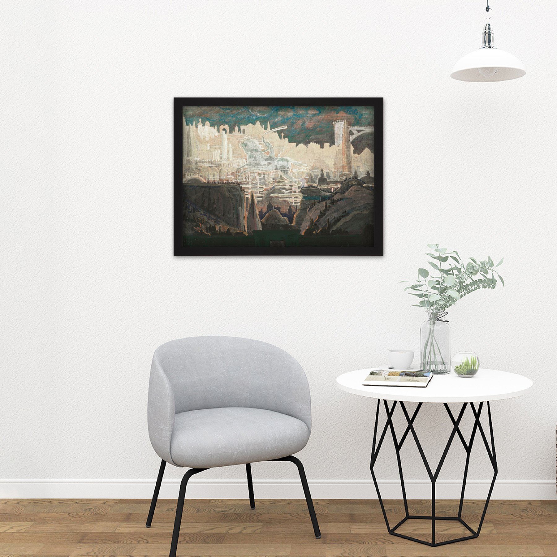 Ciurlionis-Prelude-The-Knight-Painting-Large-Framed-Art-Print thumbnail 8