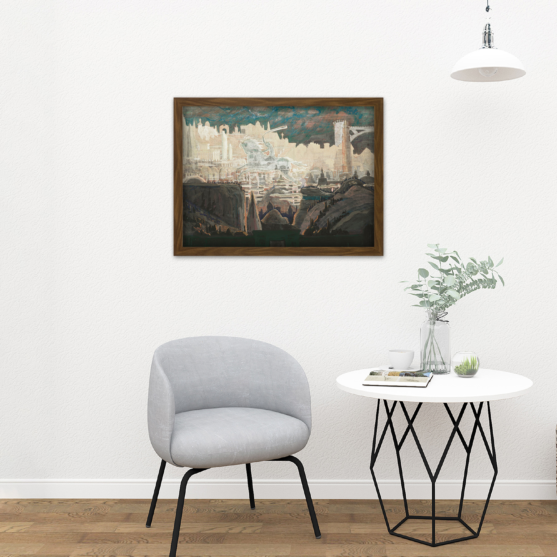 Ciurlionis-Prelude-The-Knight-Painting-Large-Framed-Art-Print thumbnail 13