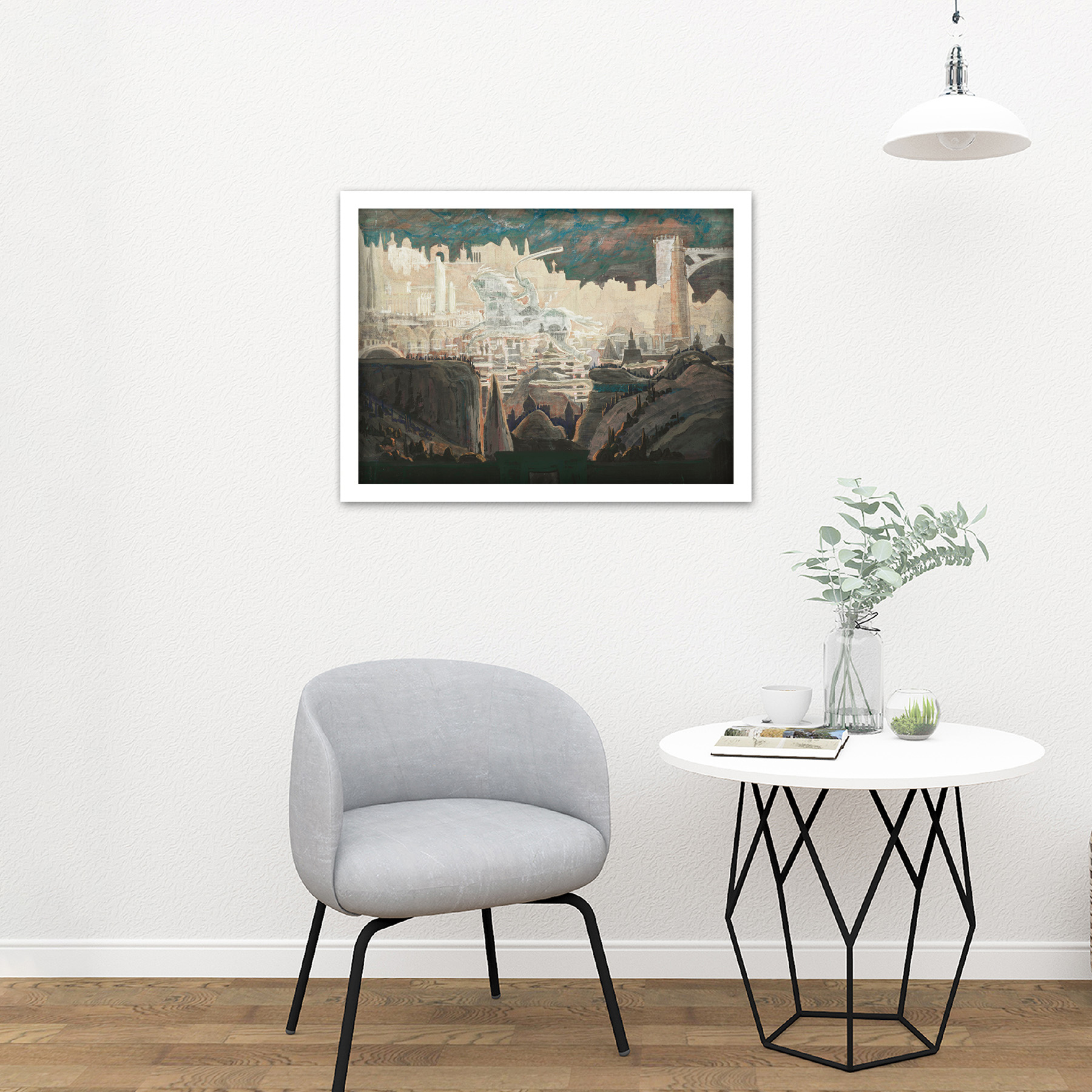 Ciurlionis-Prelude-The-Knight-Painting-Large-Framed-Art-Print thumbnail 23