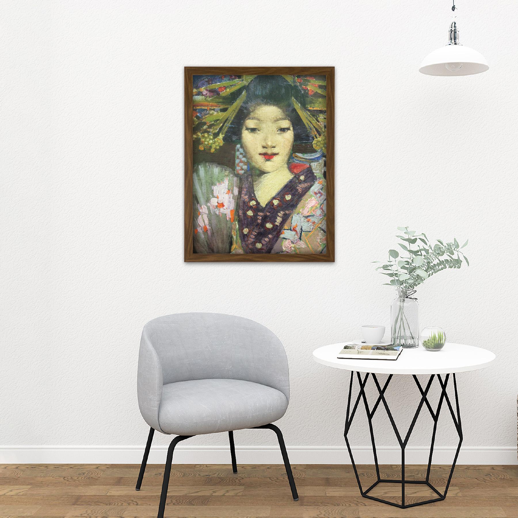 Henry-Geisha-Girl-Detail-Painting-Large-Framed-Art-Print thumbnail 13