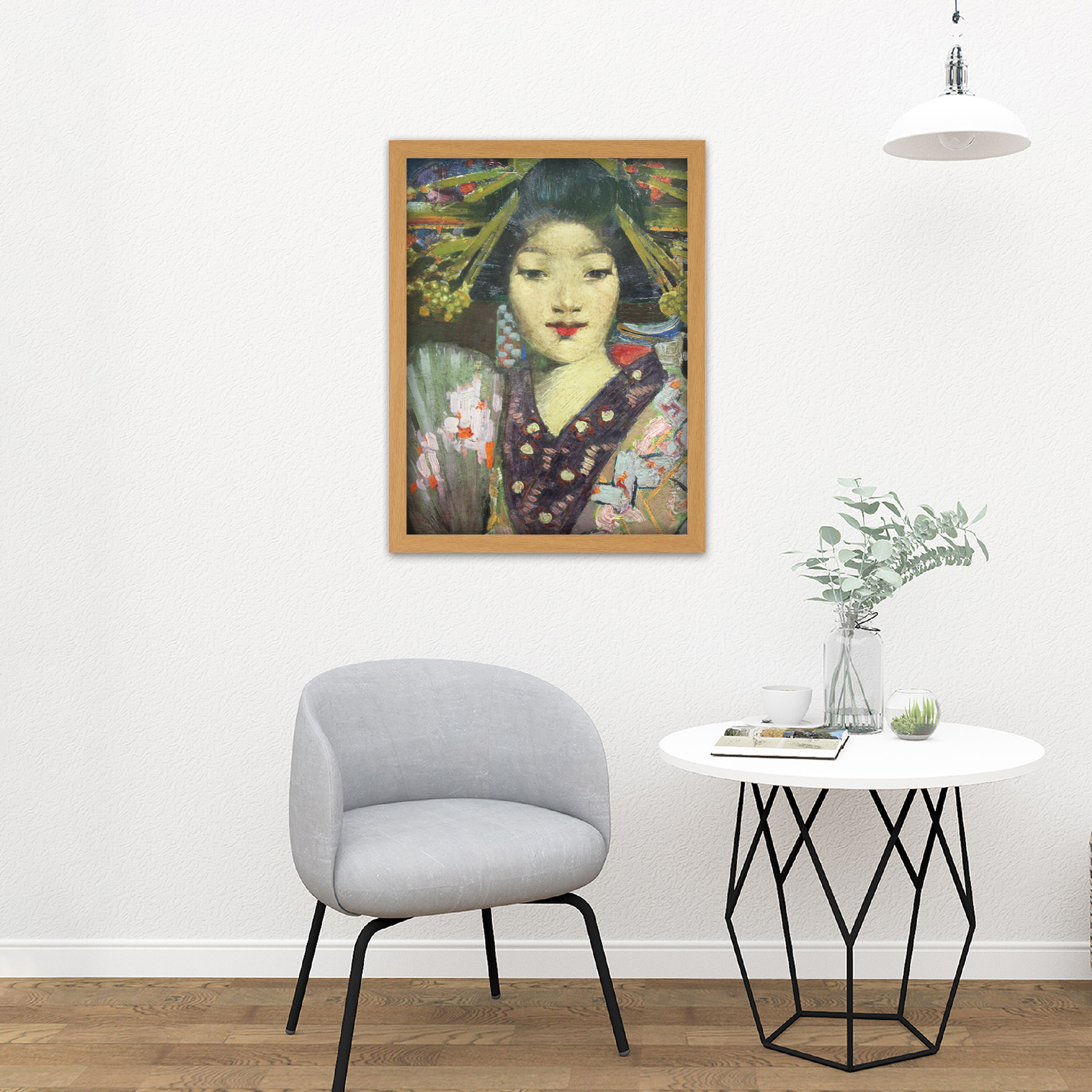 Henry-Geisha-Girl-Detail-Painting-Large-Framed-Art-Print thumbnail 18