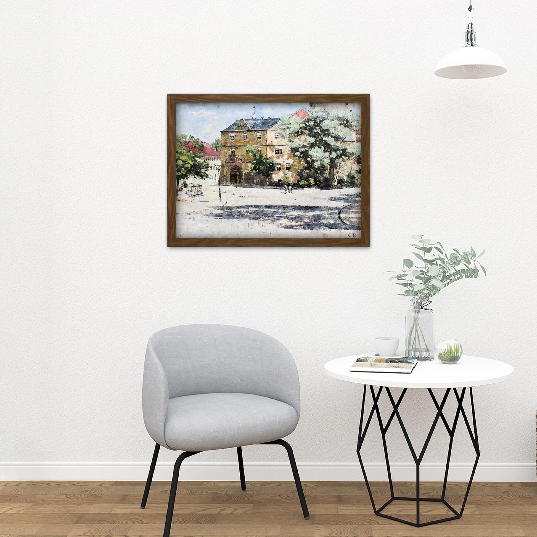 Rohlfs-Burgplatz-Weimar-Painting-Large-Framed-Art-Print thumbnail 13