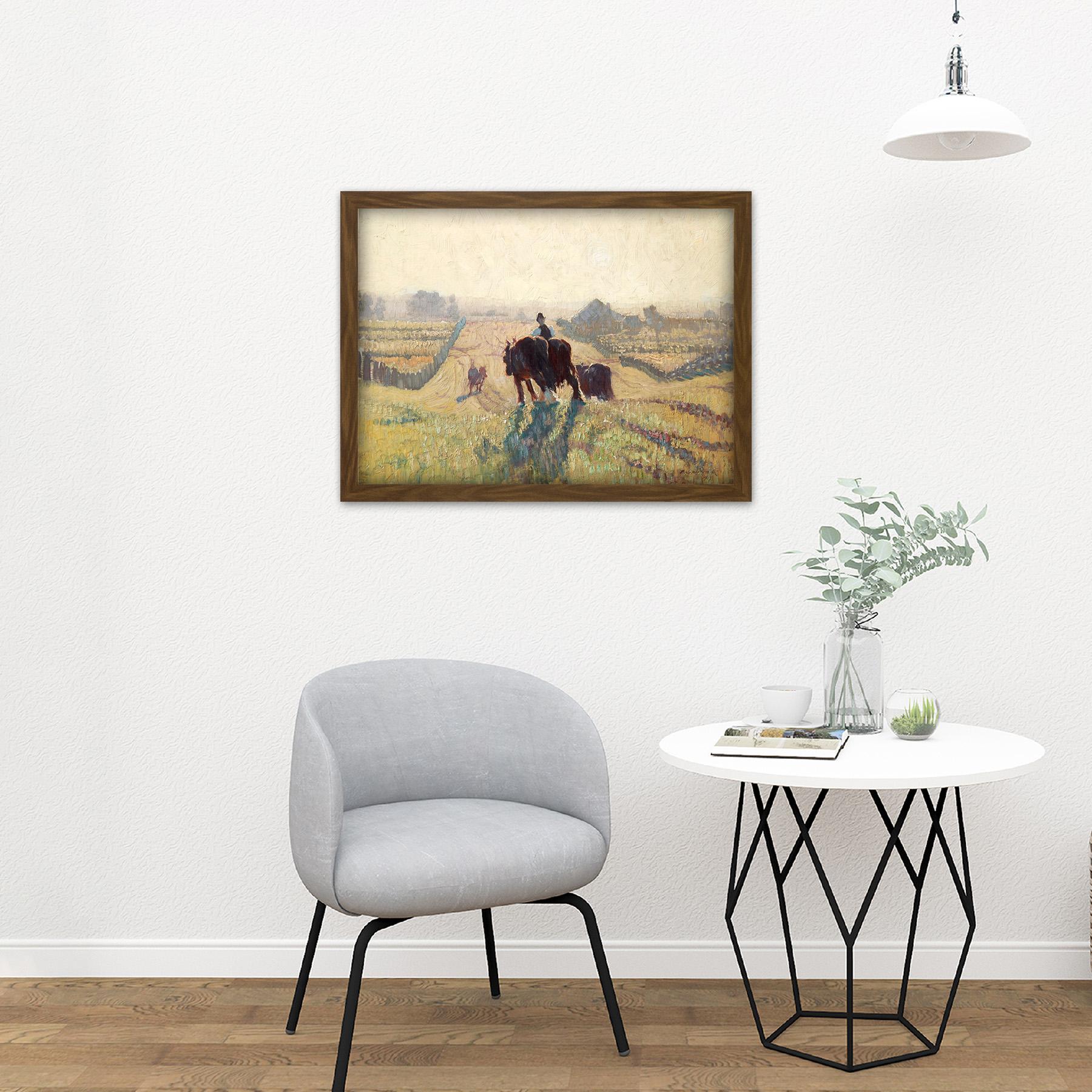 Elioth-Gruner-Frosty-Sunrise-Painting-Large-Framed-Art-Print thumbnail 13