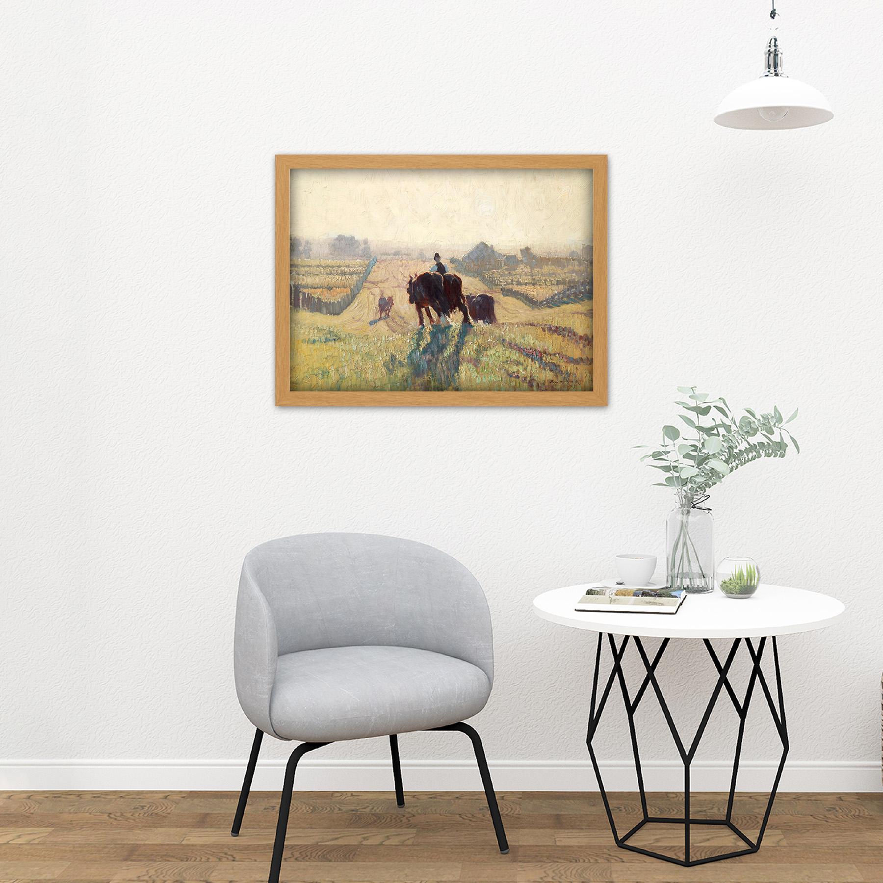 Elioth-Gruner-Frosty-Sunrise-Painting-Large-Framed-Art-Print thumbnail 18