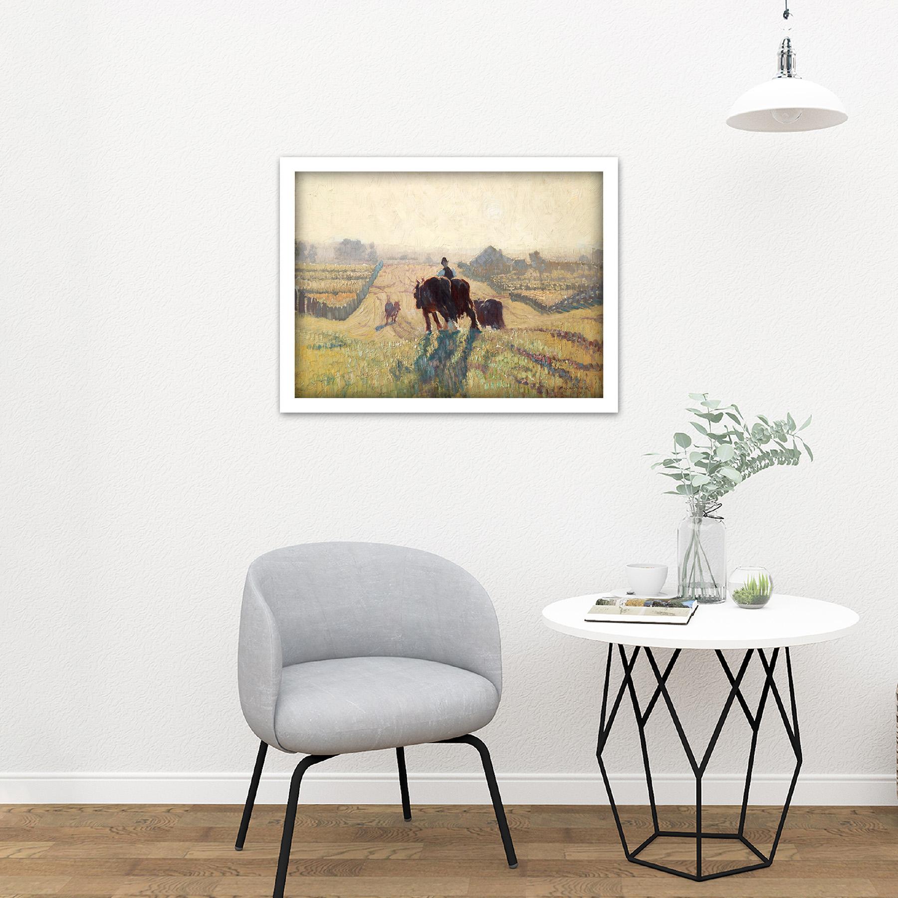 Elioth-Gruner-Frosty-Sunrise-Painting-Large-Framed-Art-Print thumbnail 23