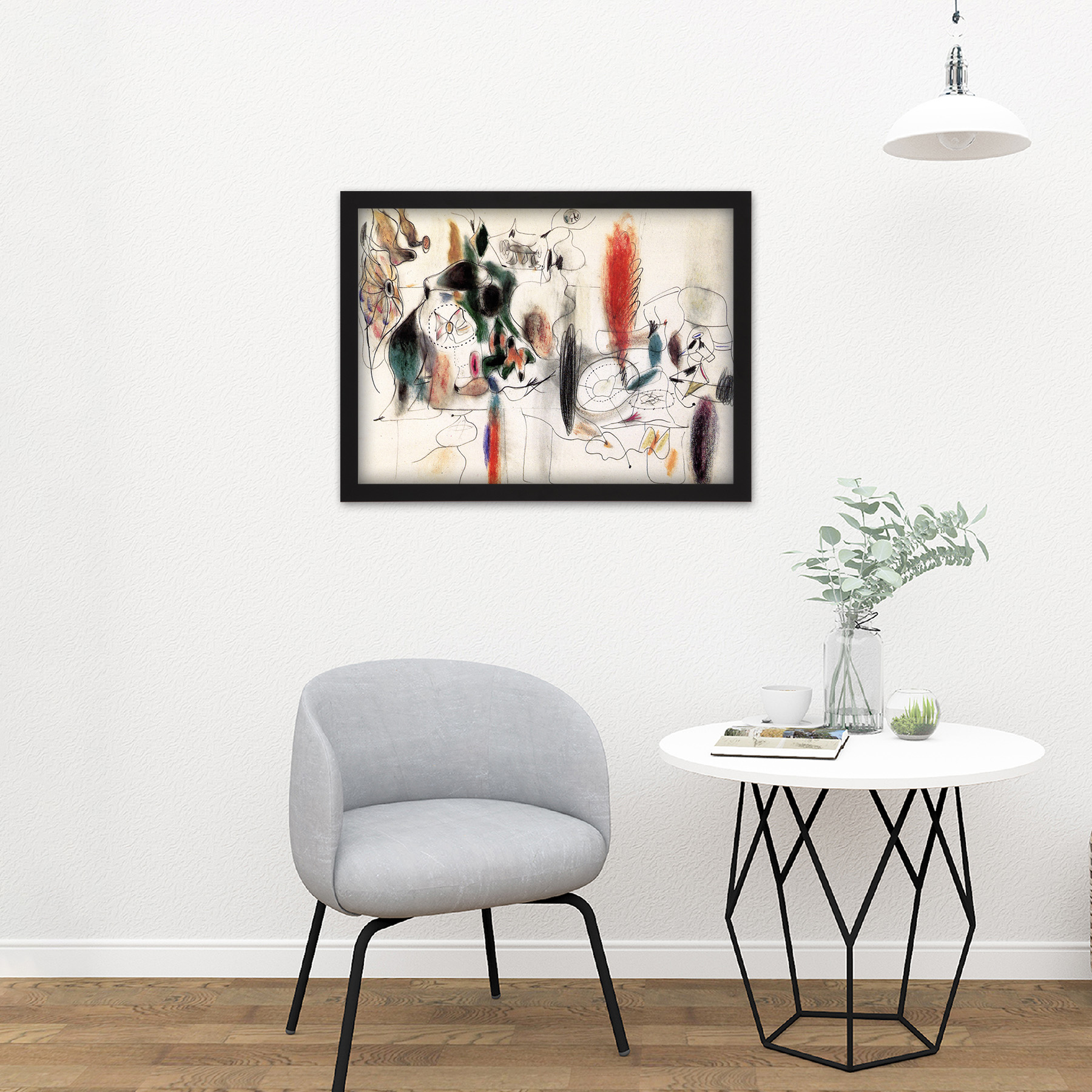 Gorky-Arshile-Composition-II-Expressionist-Painting-Large-Framed-Art-Print thumbnail 8