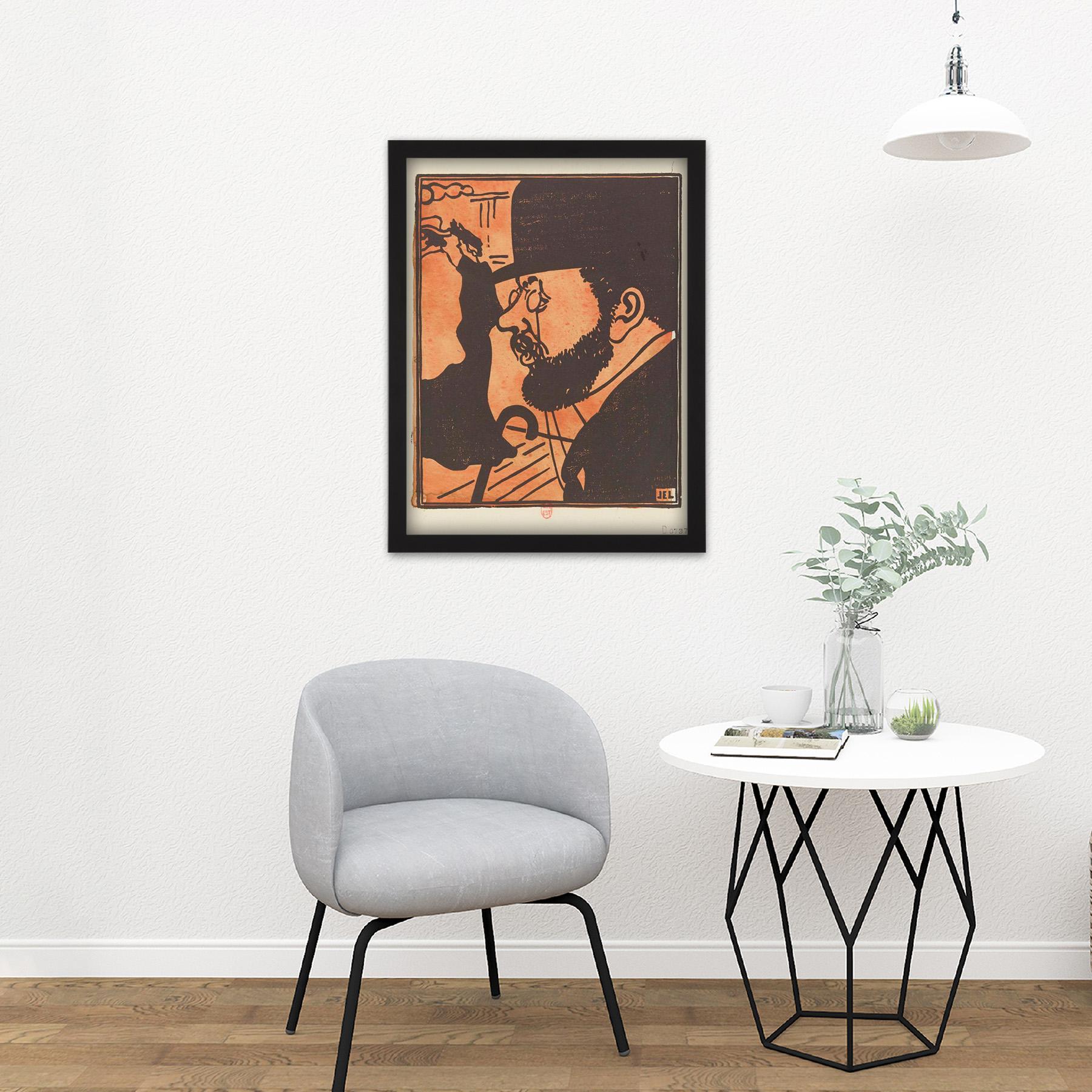 Laboureur-Portrait-Toulouse-Lautrec-Engraving-Large-Framed-Art-Print thumbnail 8