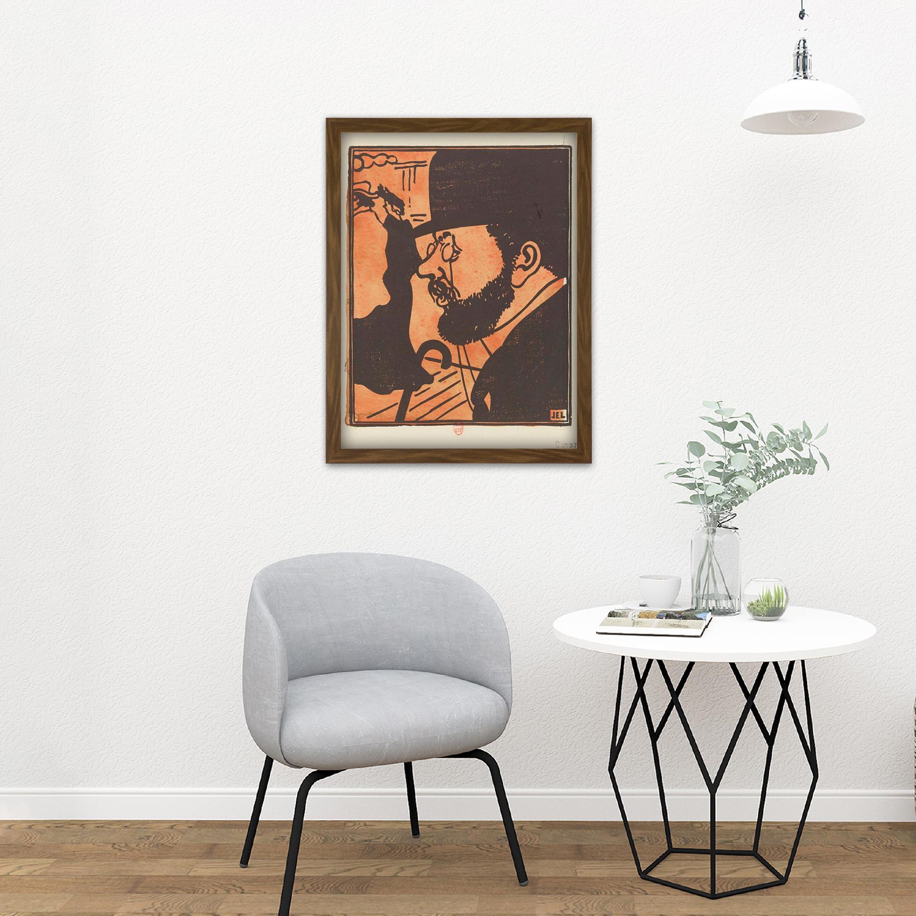 Laboureur-Portrait-Toulouse-Lautrec-Engraving-Large-Framed-Art-Print thumbnail 13