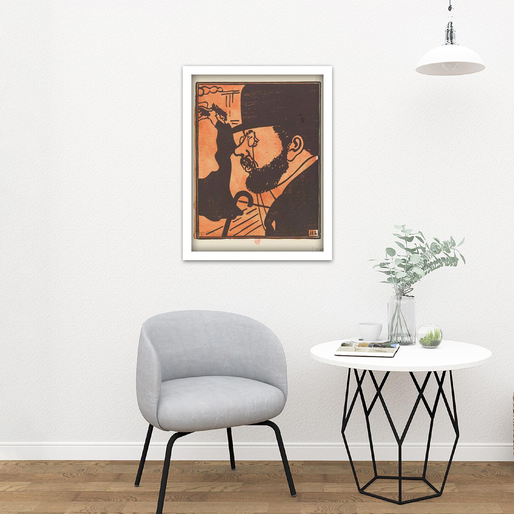 Laboureur-Portrait-Toulouse-Lautrec-Engraving-Large-Framed-Art-Print thumbnail 23