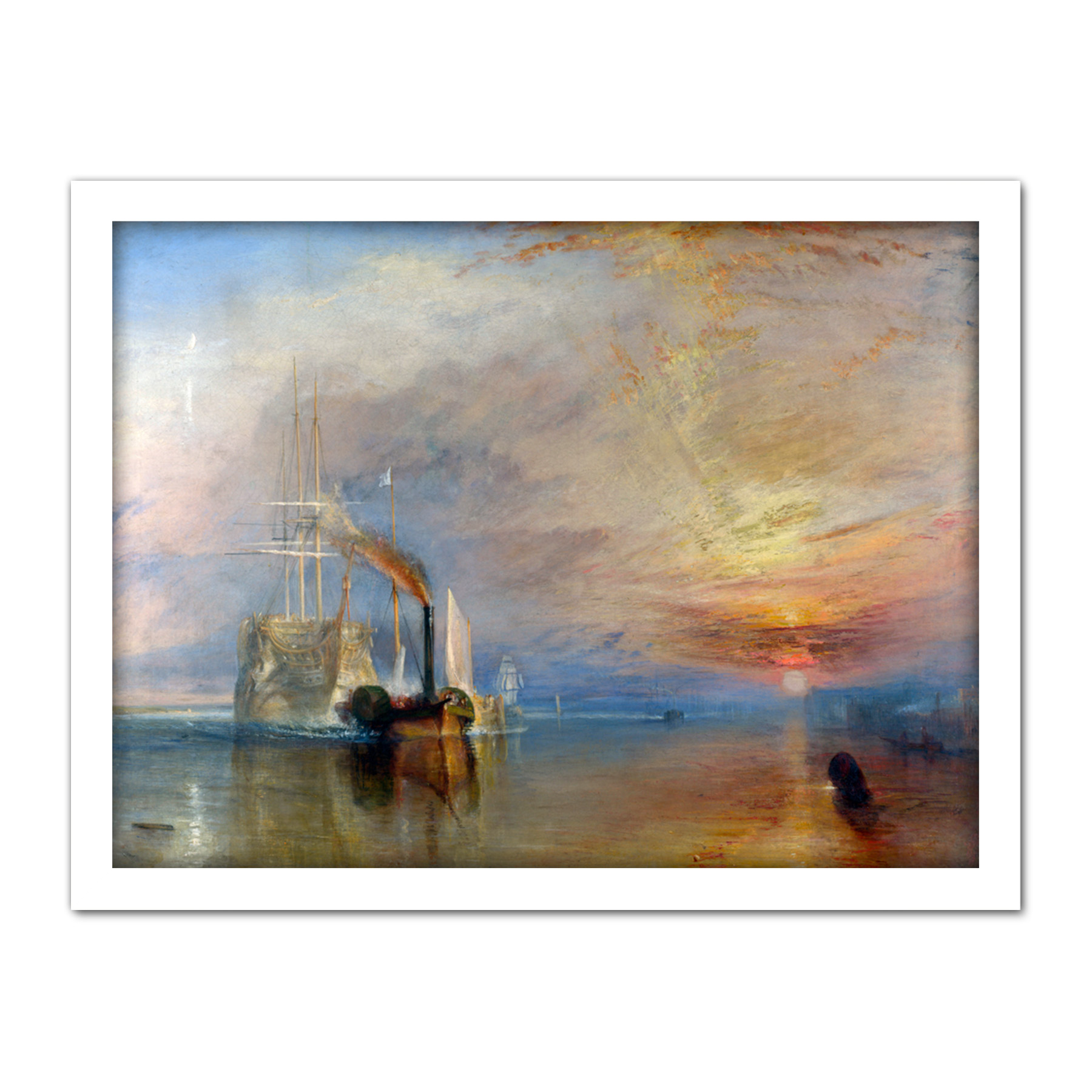Turner-The-Fighting-Temeraire-Ship-Painting-Framed-Wall-Art-Print-18X24-In thumbnail 21