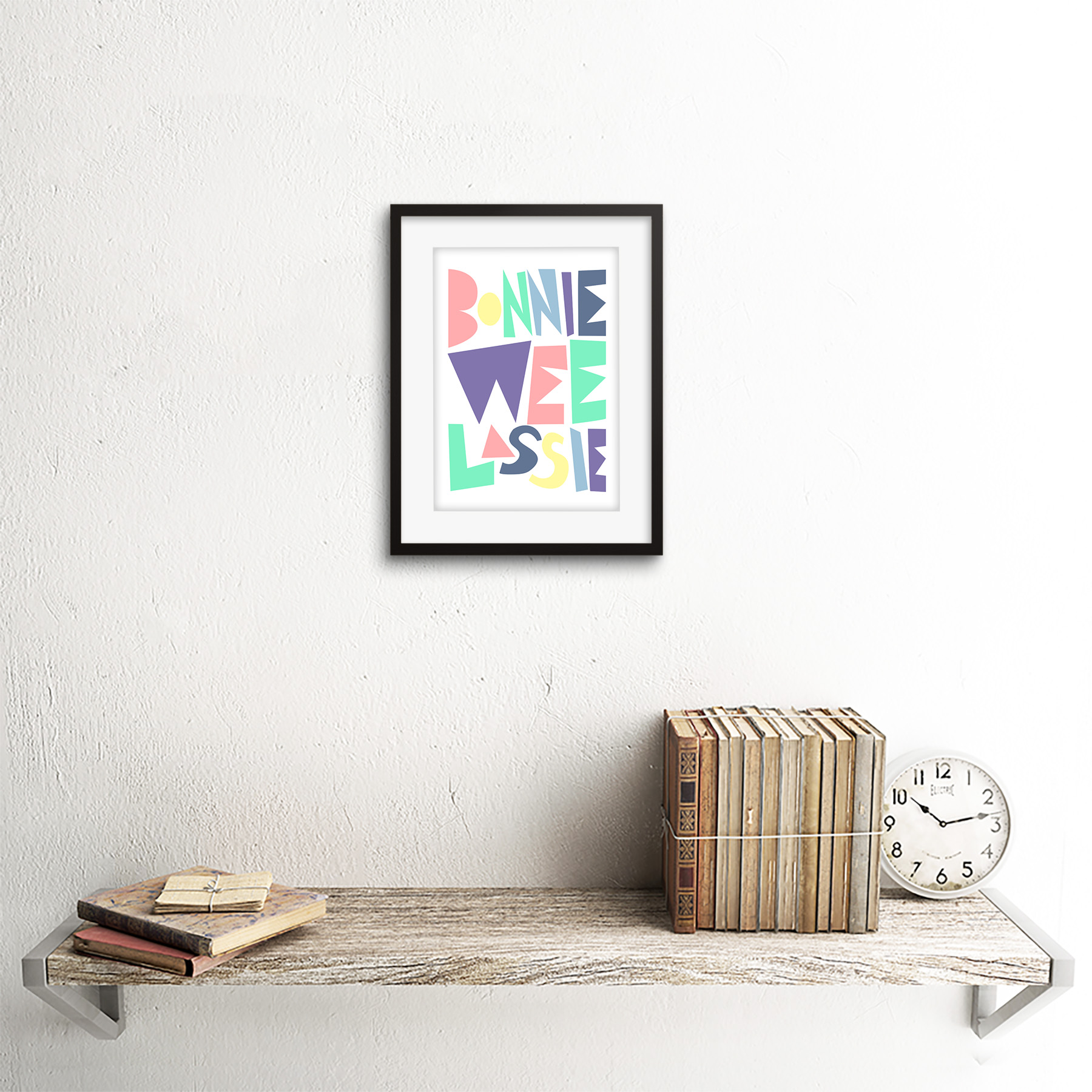 thumbnail 3 - Bonnie Wee LASSIE New Baby Girl Scottish Colourful Framed Wall Art Print