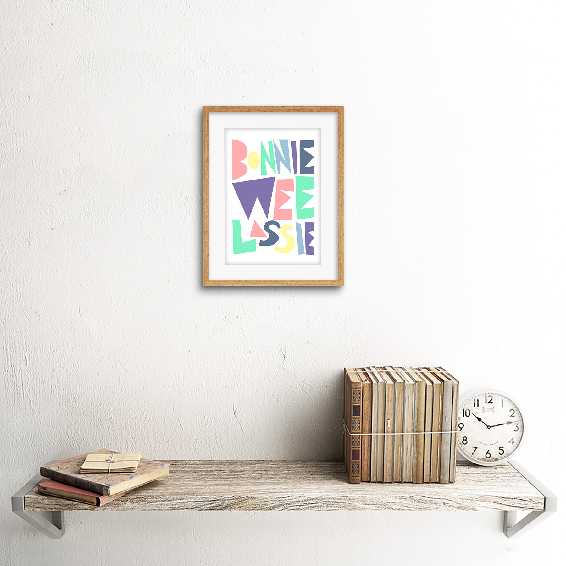 thumbnail 11 - Bonnie Wee LASSIE New Baby Girl Scottish Colourful Framed Wall Art Print