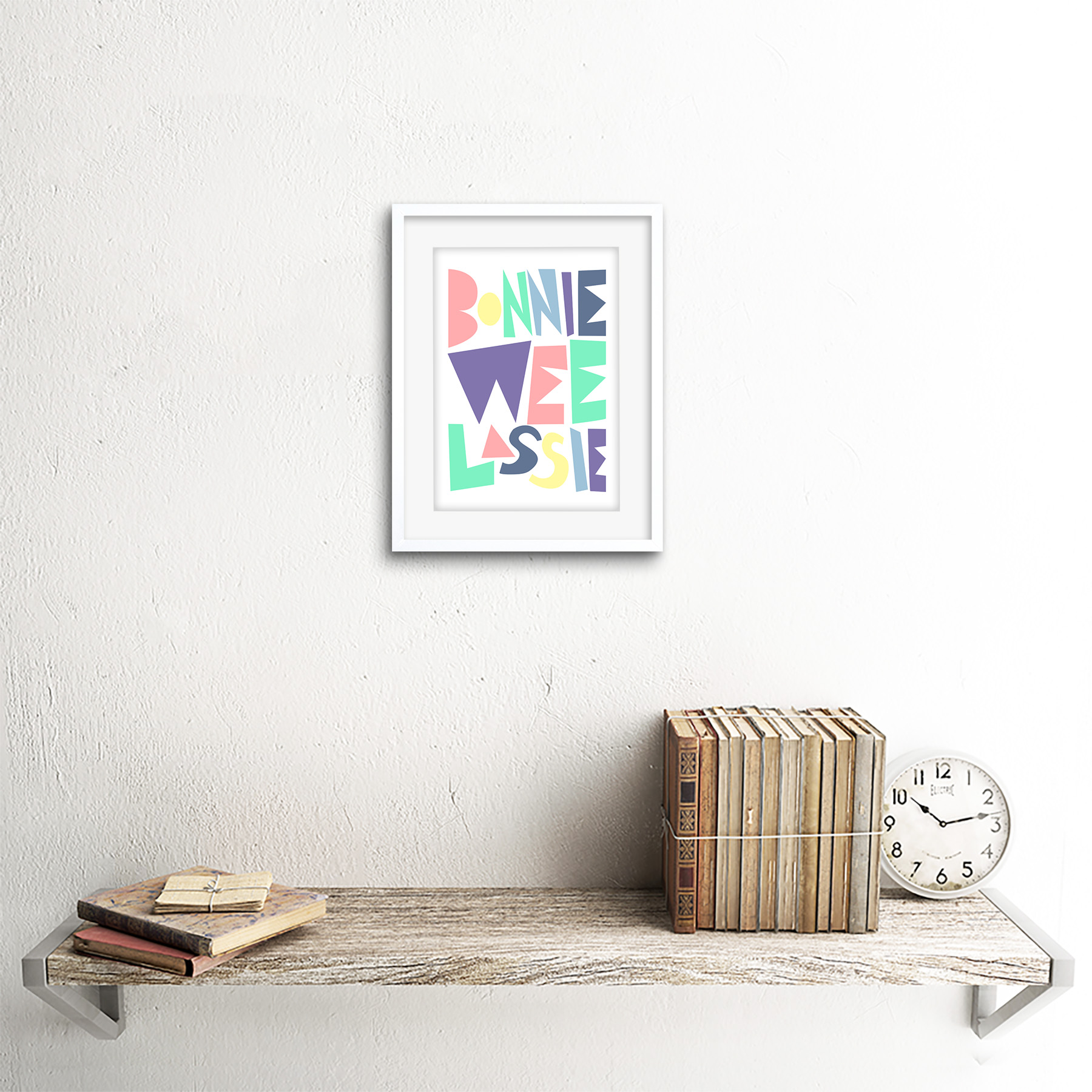 thumbnail 15 - Bonnie Wee LASSIE New Baby Girl Scottish Colourful Framed Wall Art Print