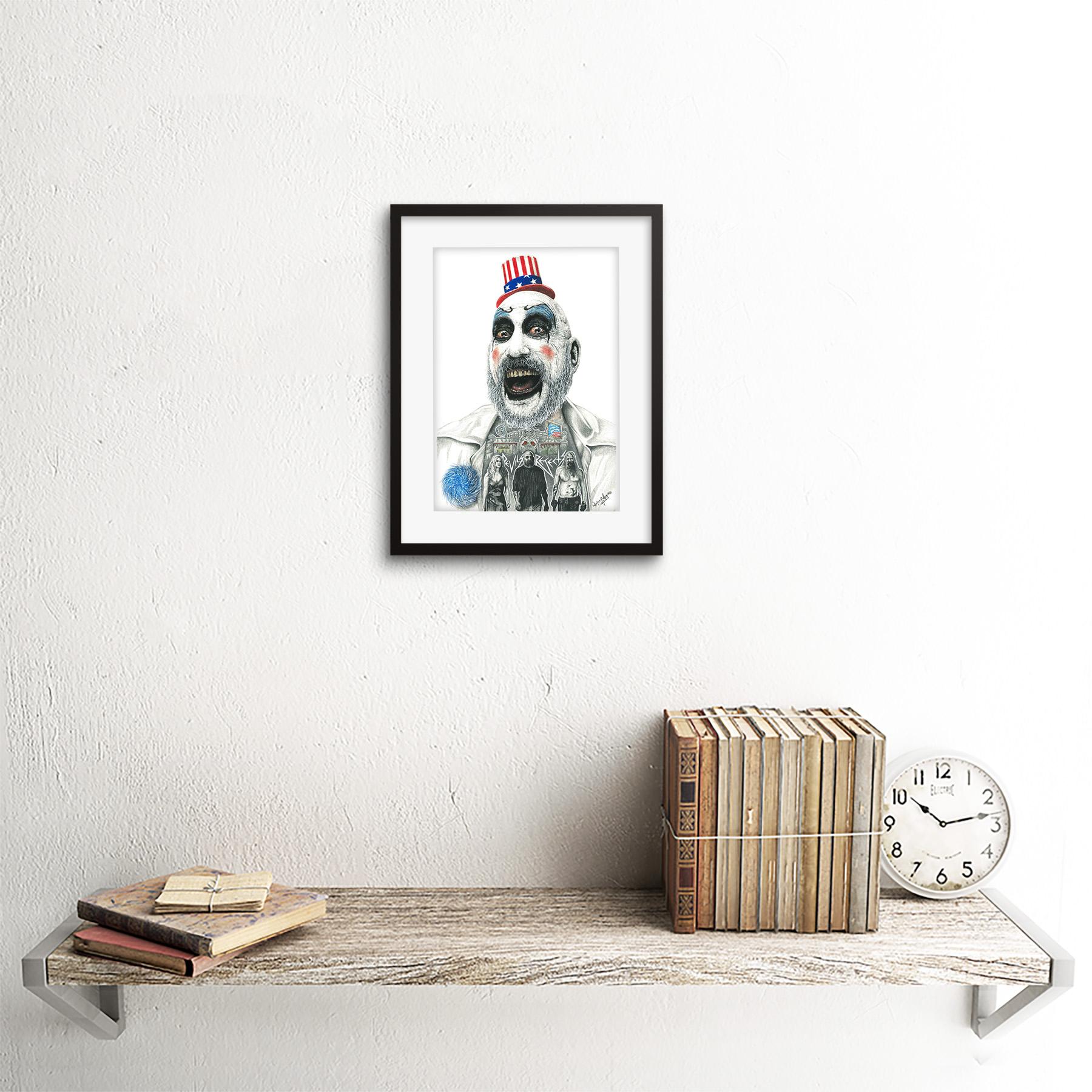 Wayne Maguire Tattooed Captain Spaulding Inked Ikon Canvas Art Print