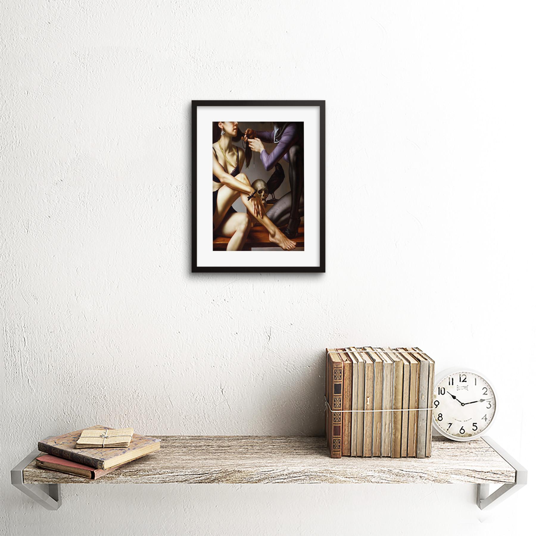 Painting-Balcar-Entering-Renaissance-Framed-Art-Print-9x7-Inch 縮圖 3