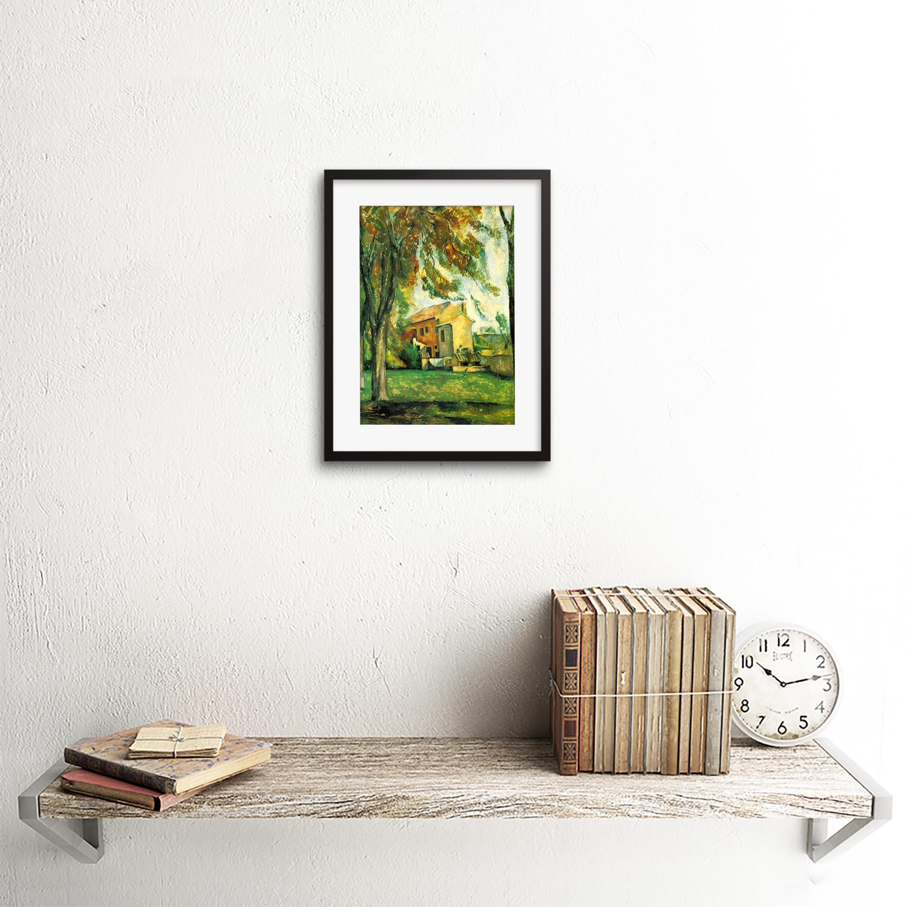 Painting-Cezanne-Pond-Jas-De-Bouffan-Winter-Framed-Picture-Art-Print-9x7-Inch miniatuur 4