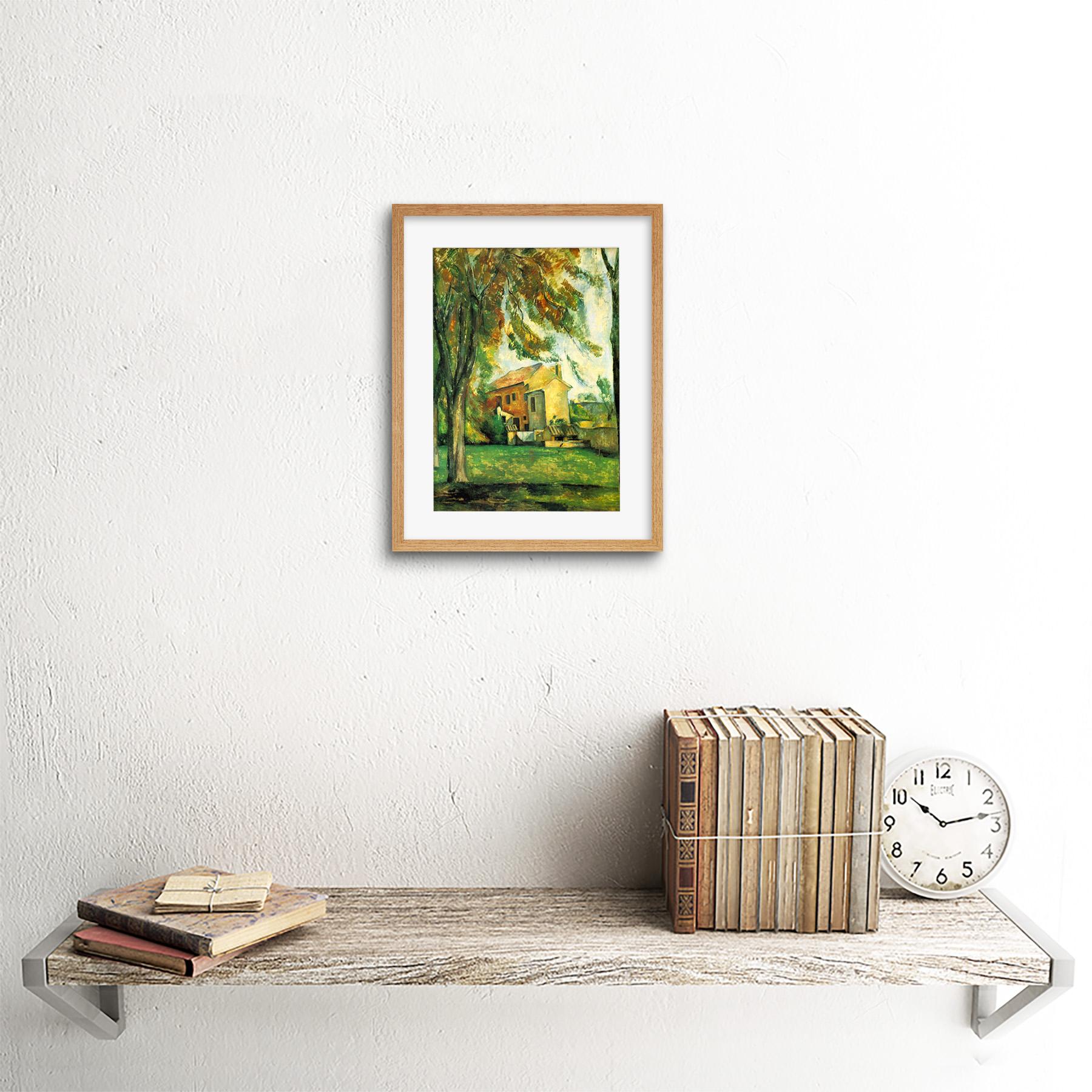 Painting-Cezanne-Pond-Jas-De-Bouffan-Winter-Framed-Picture-Art-Print-9x7-Inch miniatuur 14