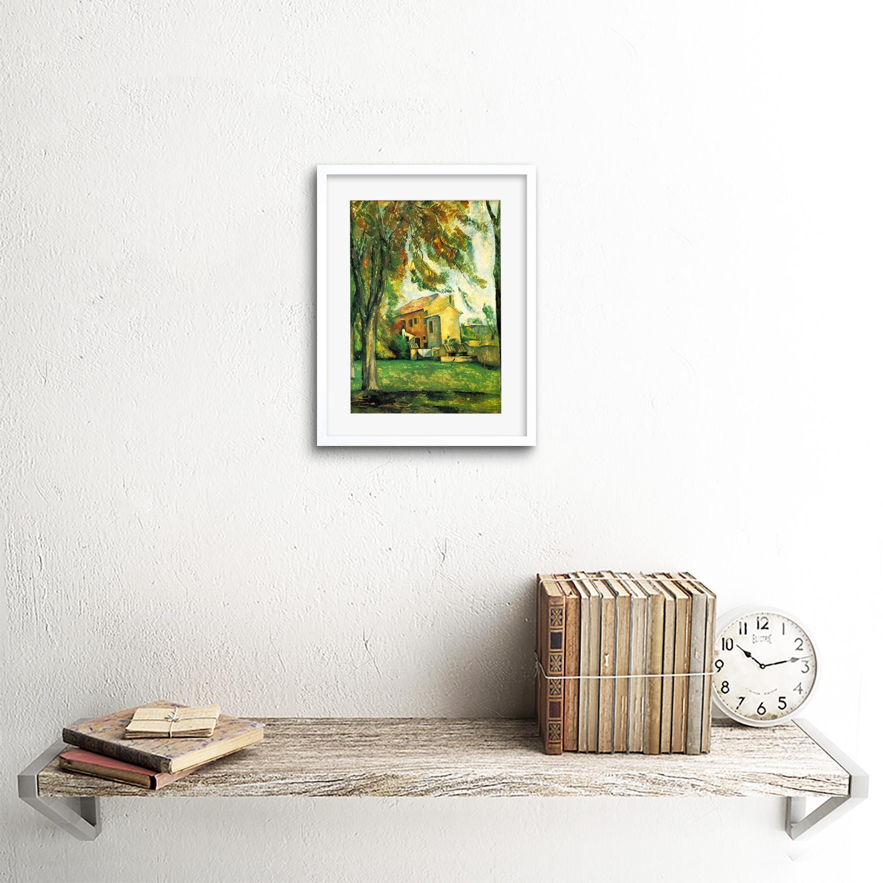 Painting-Cezanne-Pond-Jas-De-Bouffan-Winter-Framed-Picture-Art-Print-9x7-Inch miniatuur 19