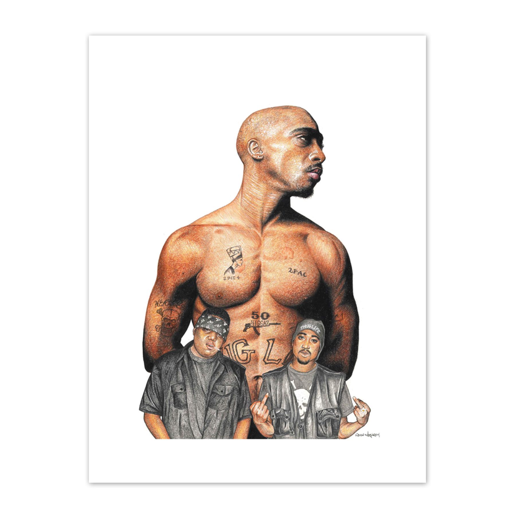 Wayne Maguire Tattooed Tupac Shakur 2Pac Biggie Inked Ikon Canvas