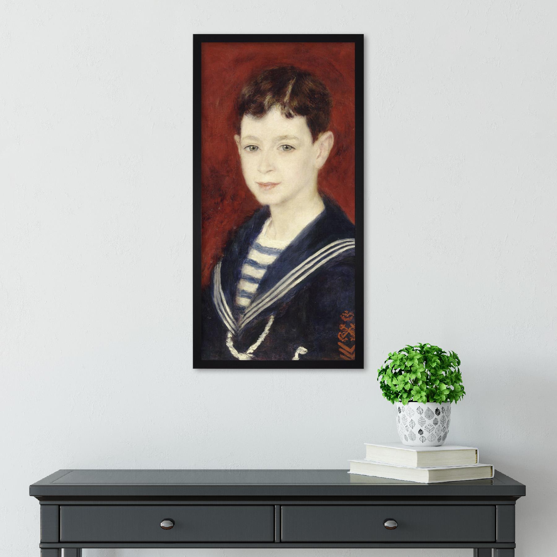 Auguste-Renoir-Fernand-Halphen-As-A-Boy-Painting-Sailor-Long-Framed-Art-Print thumbnail 3
