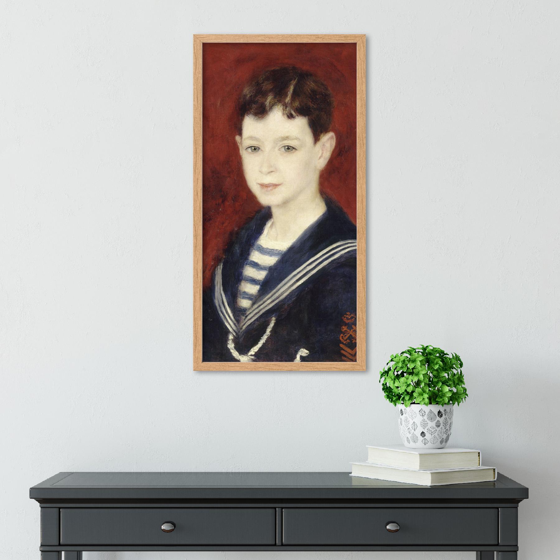 Auguste-Renoir-Fernand-Halphen-As-A-Boy-Painting-Sailor-Long-Framed-Art-Print thumbnail 13