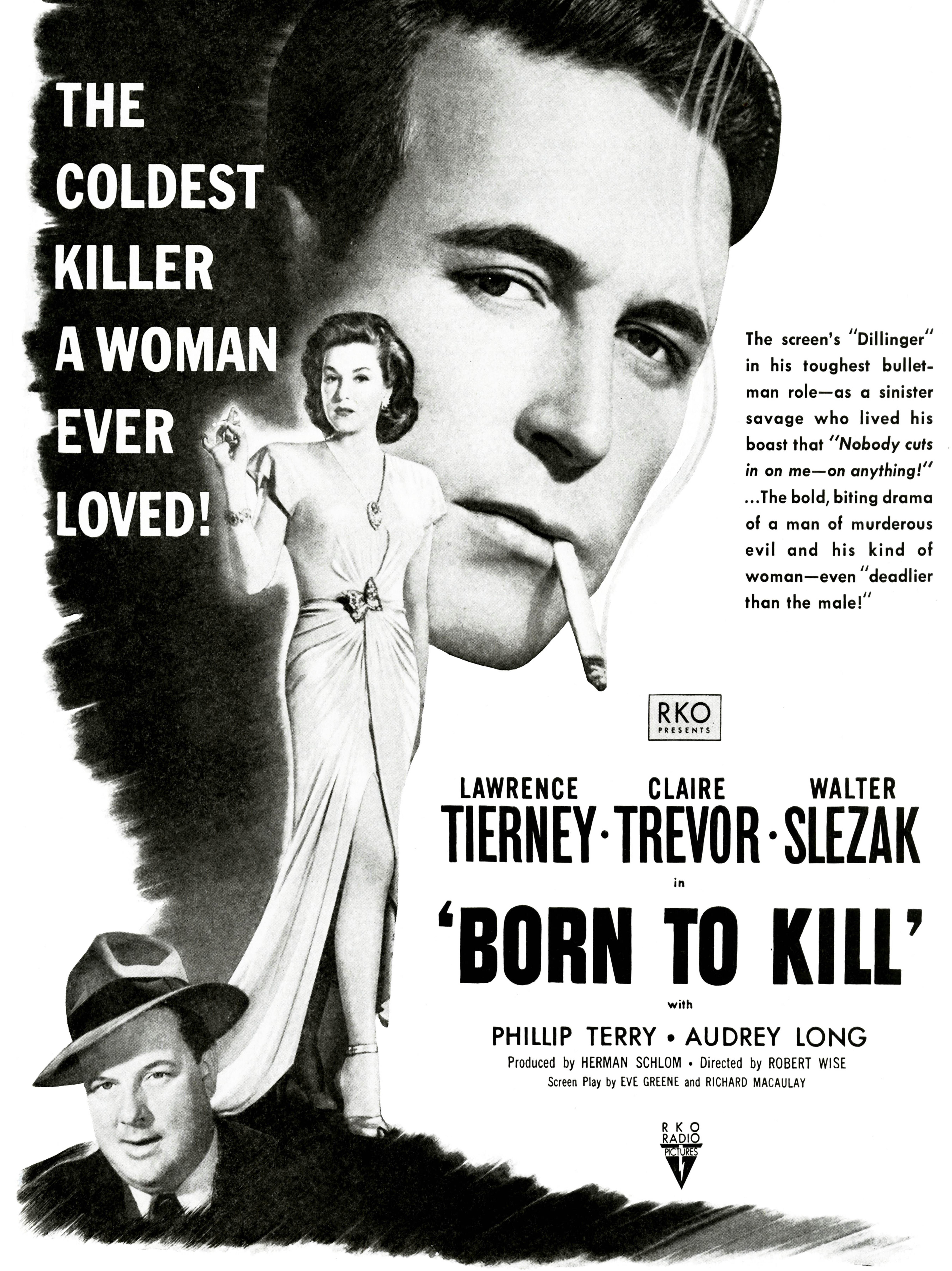 Movie Film Born To Kill Noir Crime Drama Tierney Trevor Usa Canvas