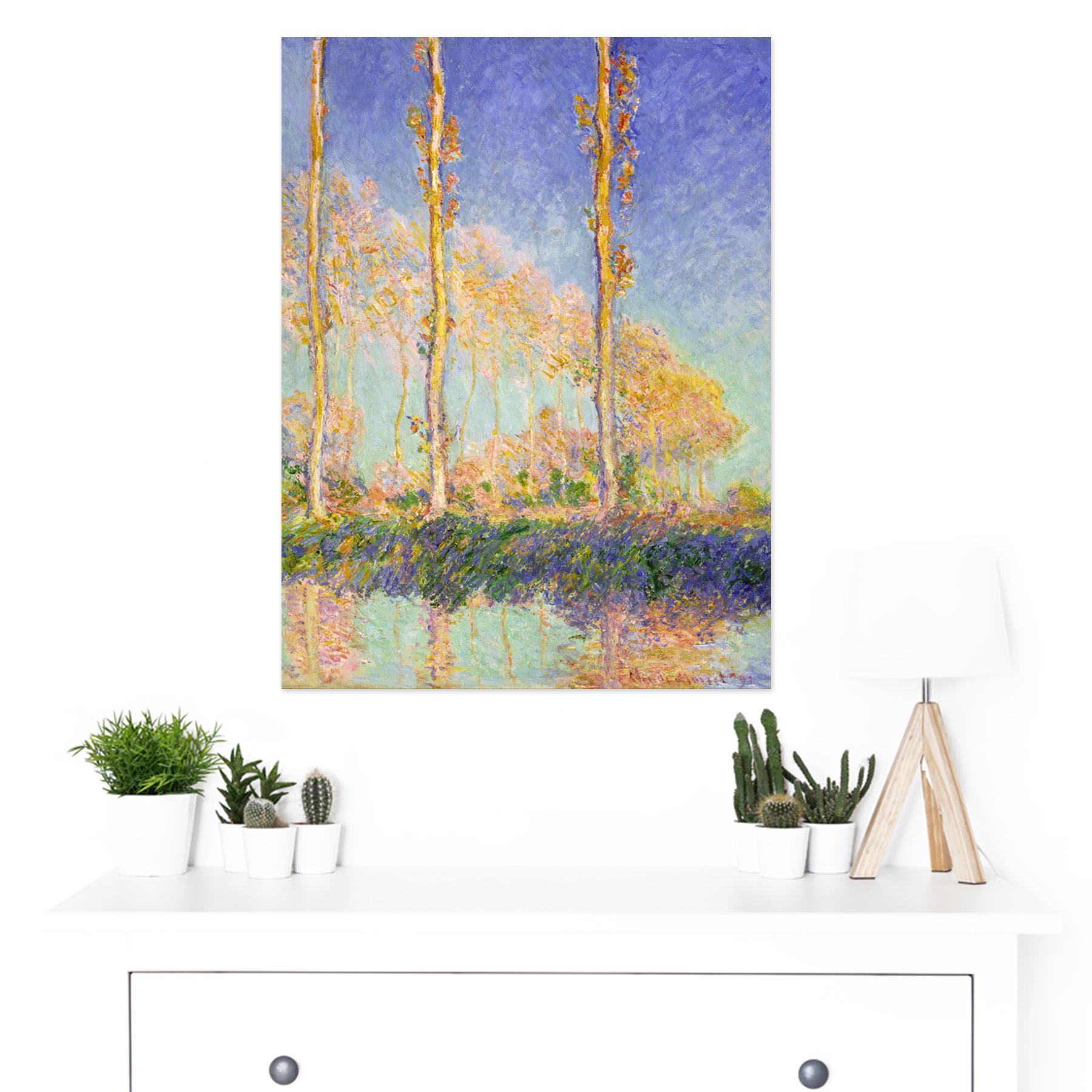 Claude-Monet-French-Poplars-Large-Framed-Art-Print thumbnail 3