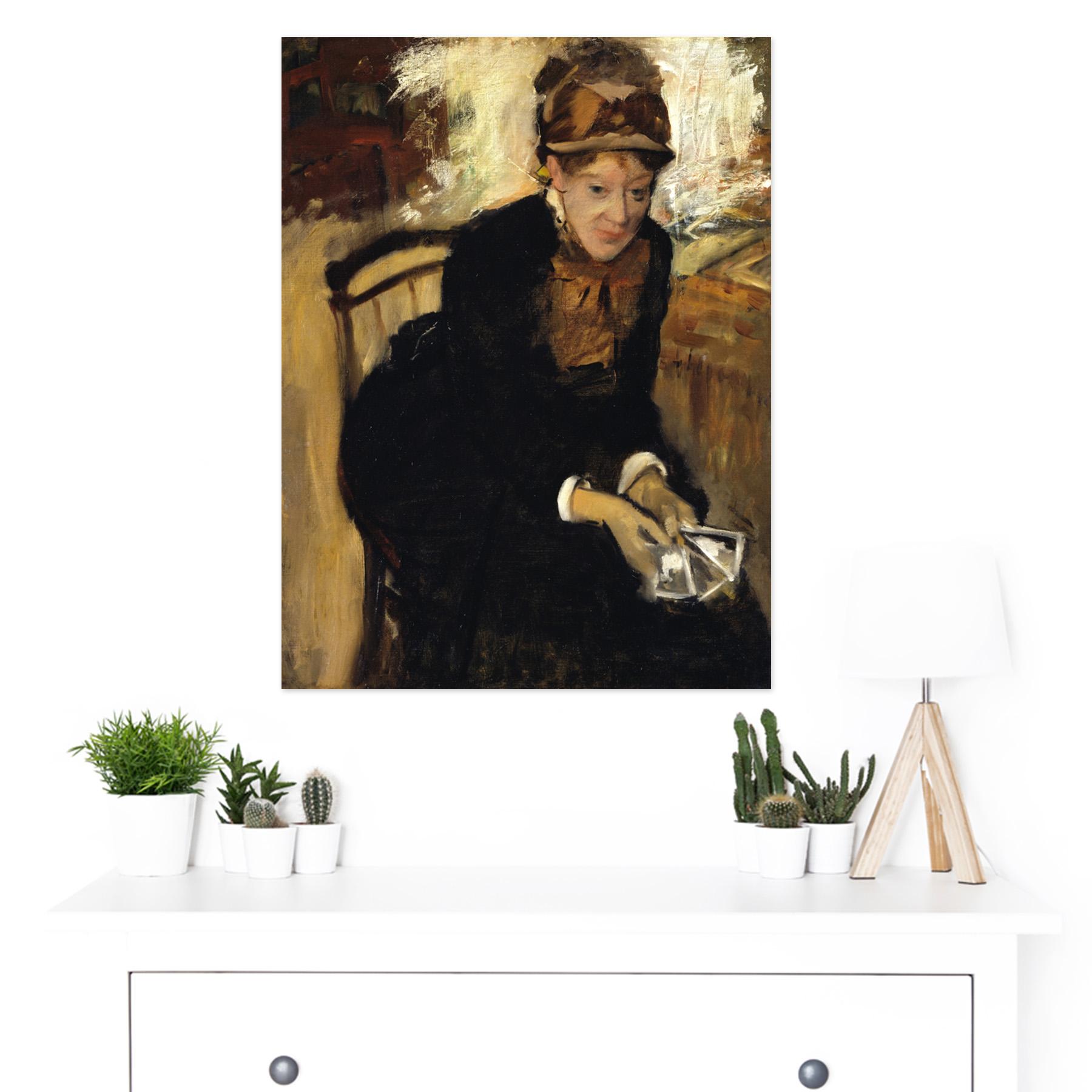 Edgar-Degas-Mary-Cassatt-Large-Framed-Art-Print thumbnail 3