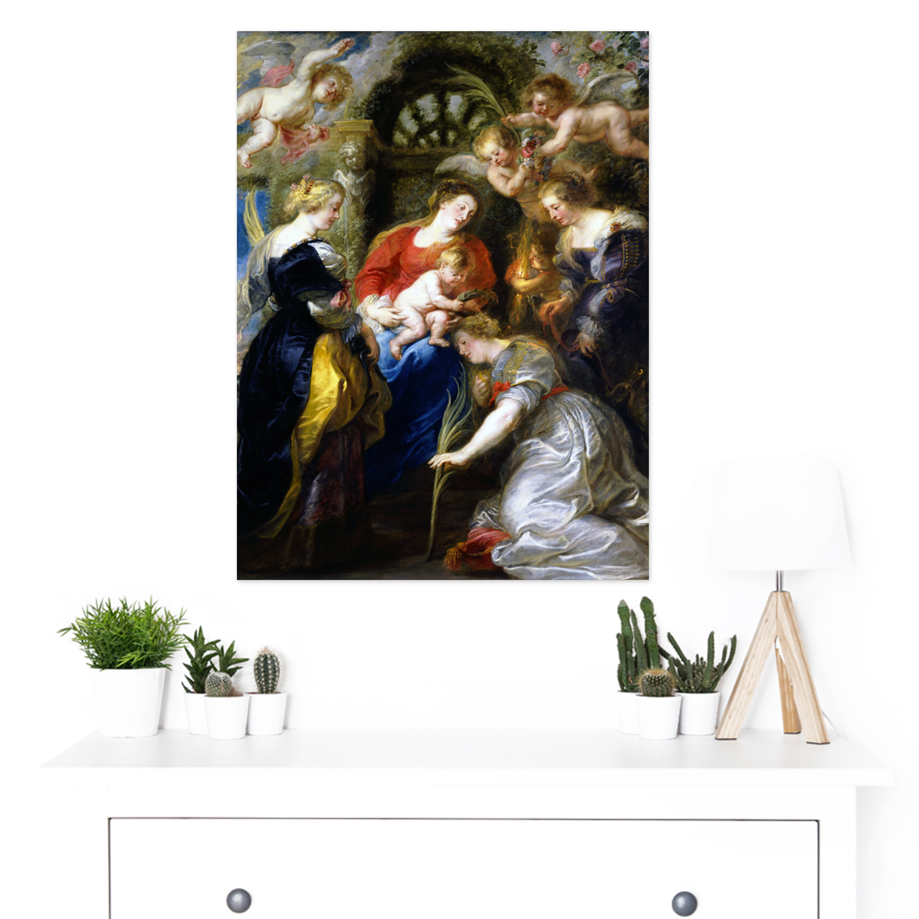 Rubens-Crowning-Of-Saint-Catherine-Large-Framed-Art-Print thumbnail 3