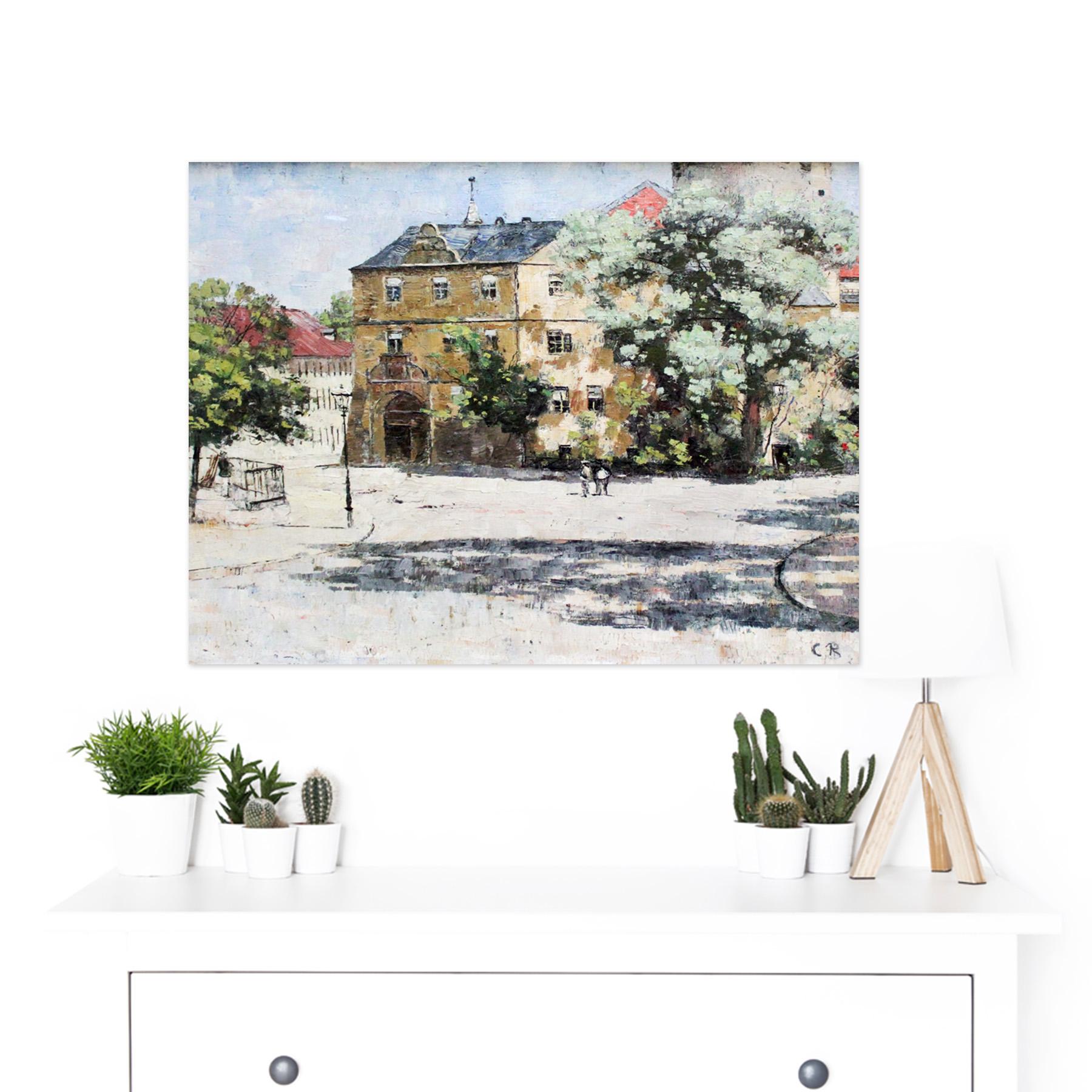 Rohlfs-Burgplatz-Weimar-Painting-Large-Framed-Art-Print thumbnail 3