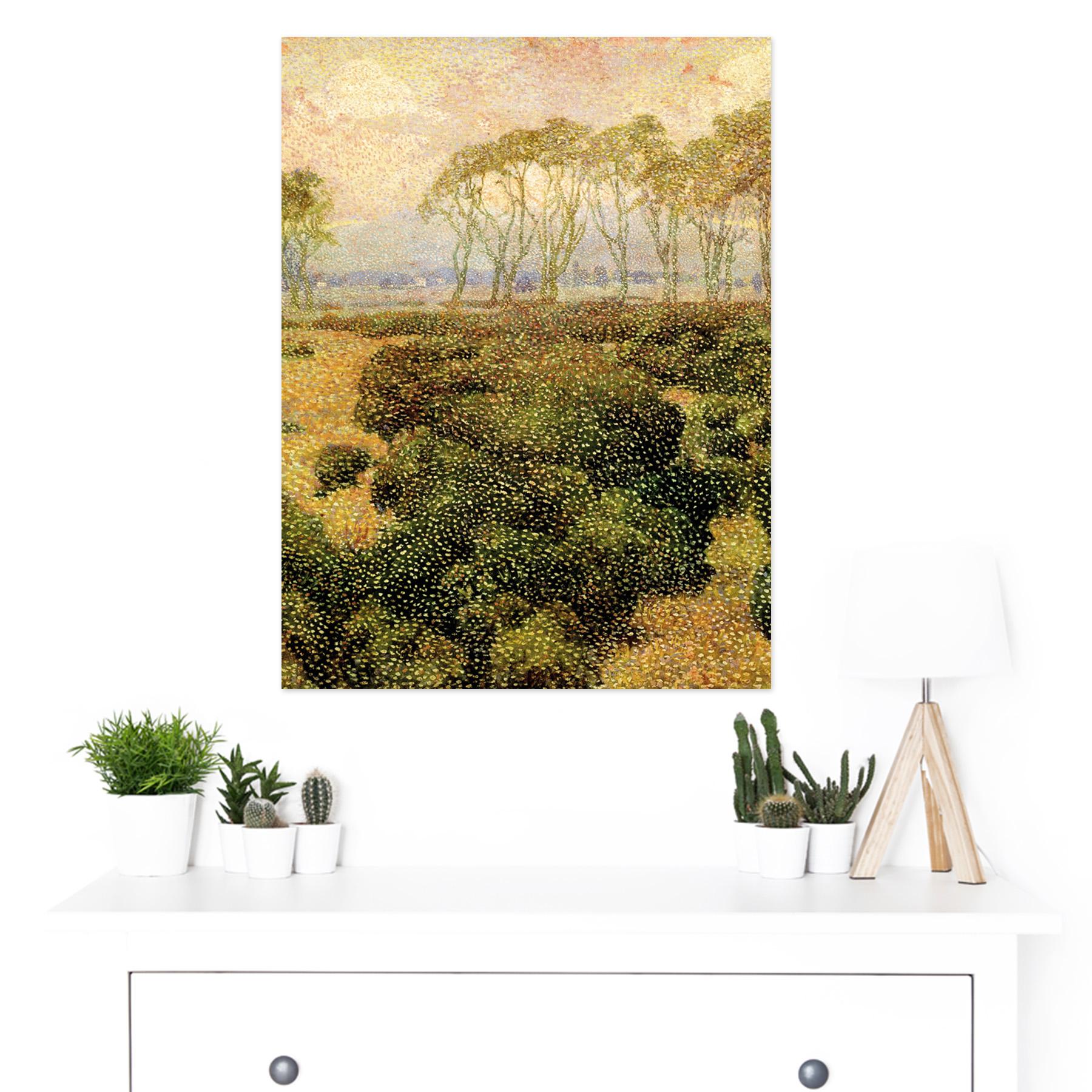 Guillemin-Last-Kiss-Impressionist-Landscape-Painting-Large-Framed-Art-Print thumbnail 3