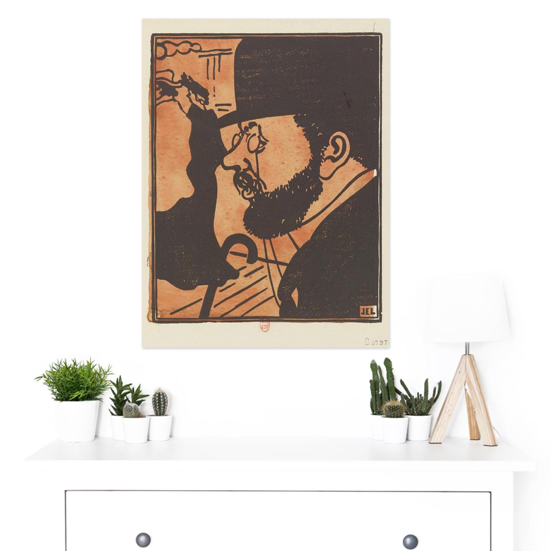 Laboureur-Portrait-Toulouse-Lautrec-Engraving-Large-Framed-Art-Print thumbnail 3