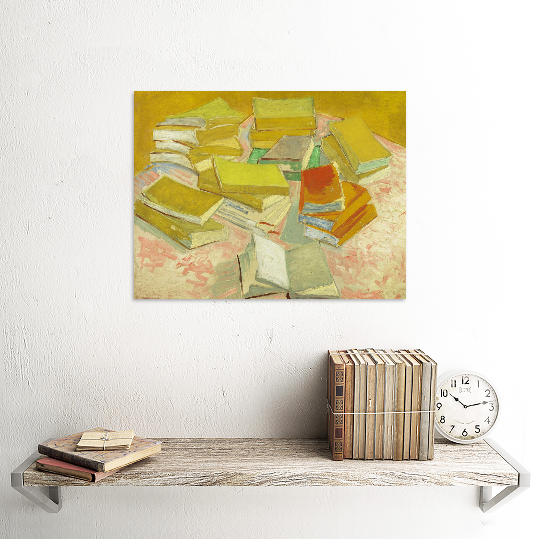 thumbnail 23 - Vincent-Van-Gogh-Piles-Of-French-Novels-Art-Print-Framed-12x16