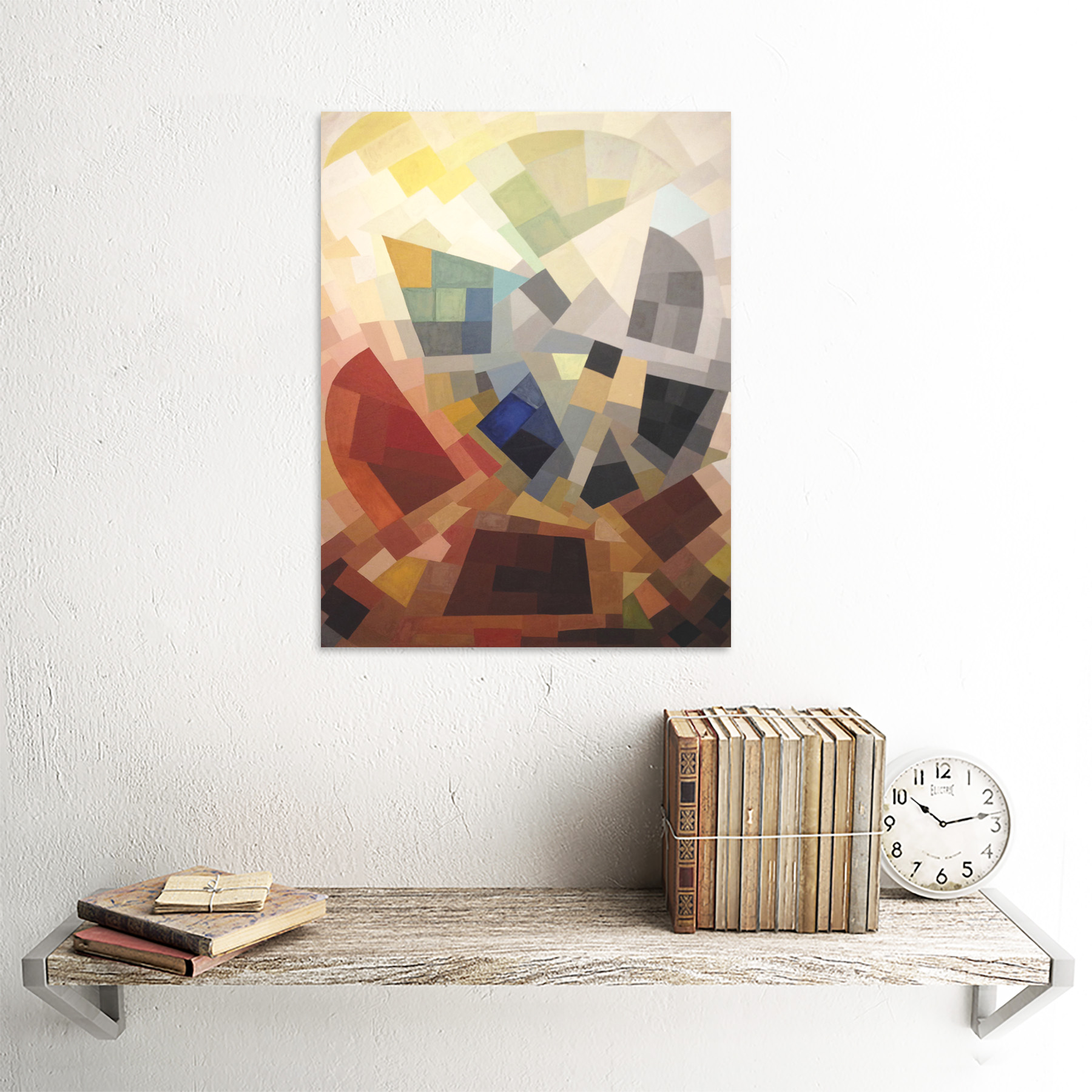 Freundlich-Abstract-Composition-Painting-Art-Print-Framed-12x16 thumbnail 23