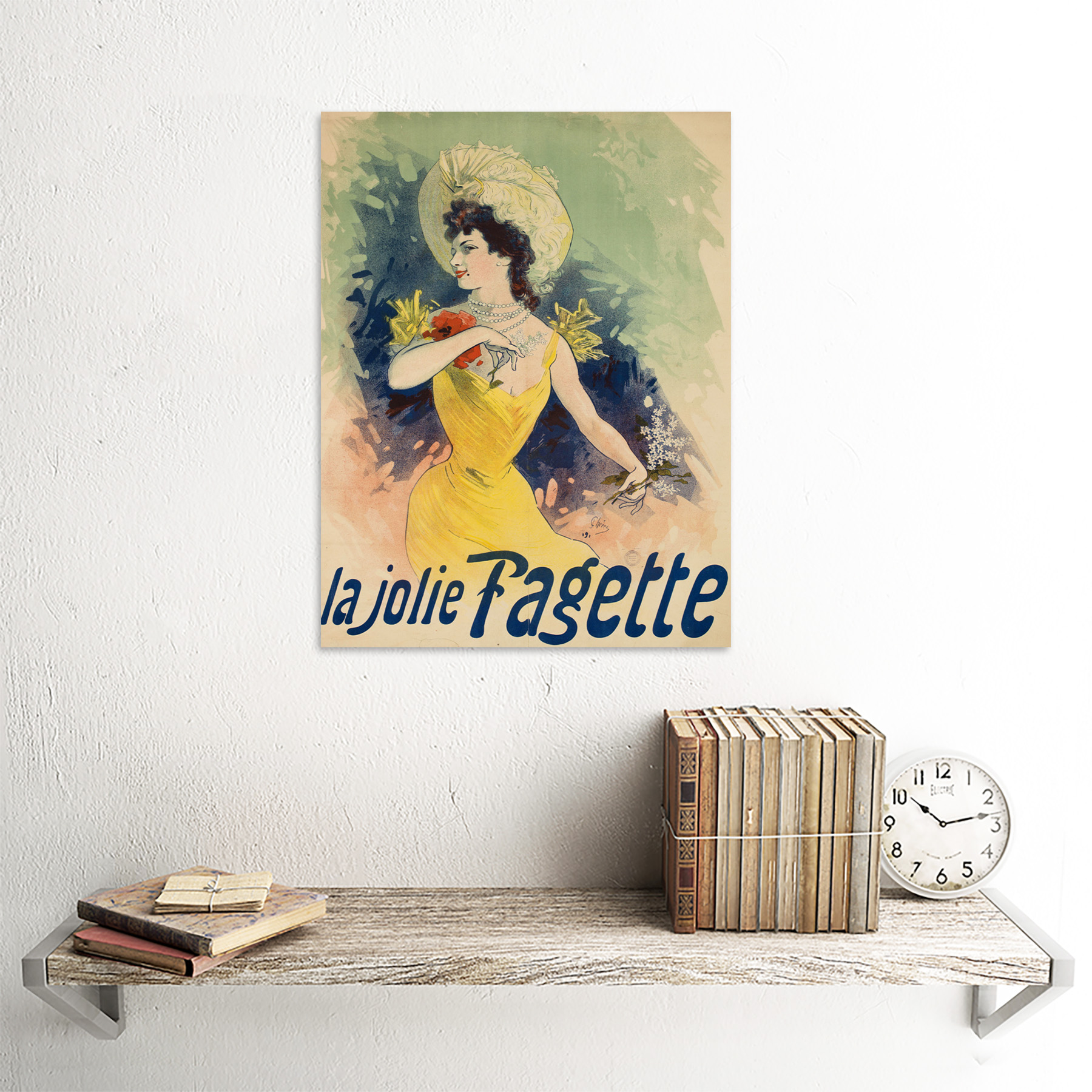 Cheret-Singer-Pretty-Fagette-Nouveau-Advert-Framed-Wall-Art-Poster thumbnail 23