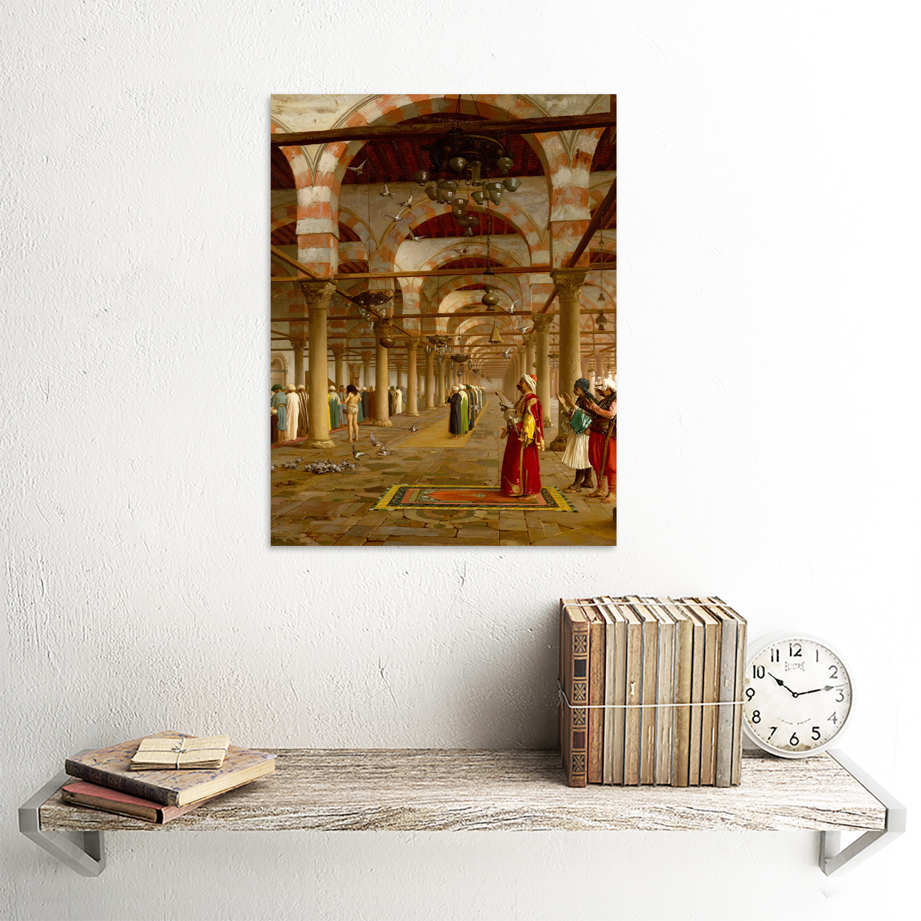 Gerome-Prayer-Mosque-Islamic-Painting-Framed-Wall-Art-Poster thumbnail 23