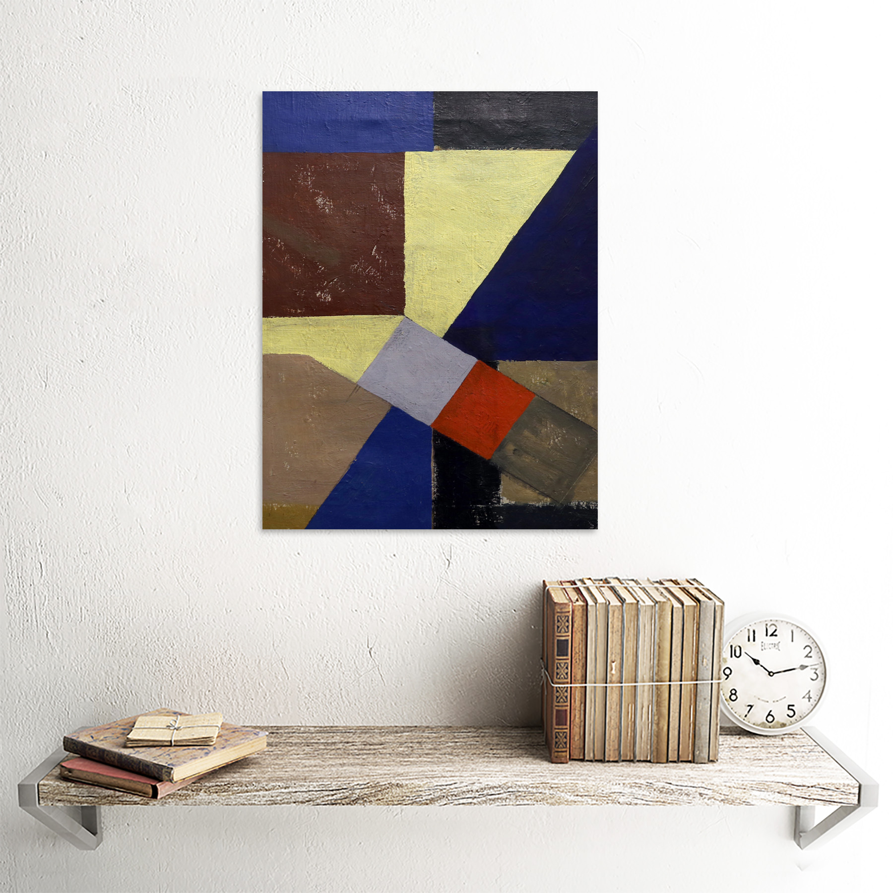 Schwitters-Kurt-Abstract-Composition-Painting-Wall-Art-Print-Framed-12x16 thumbnail 23