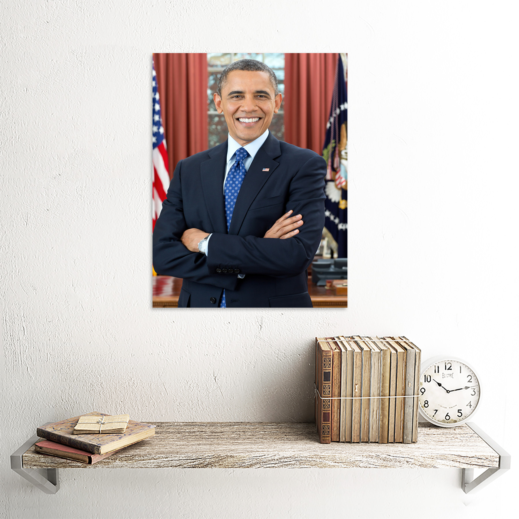 thumbnail 27 - Souza Portrait US President Barack Obama Photo Wall Art Print Framed 12x16