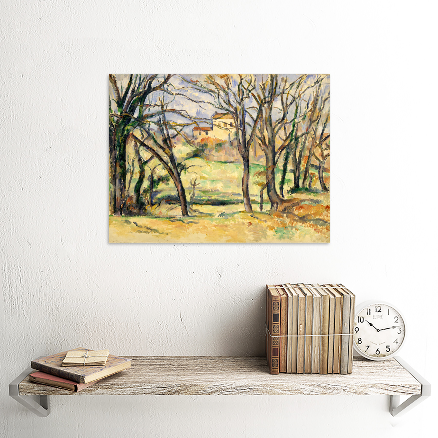 Cezanne-Trees-Houses-Near-Jas-De-Bouffan-Painting-Wall-Art-Print-Framed-12x16 miniatuur 27