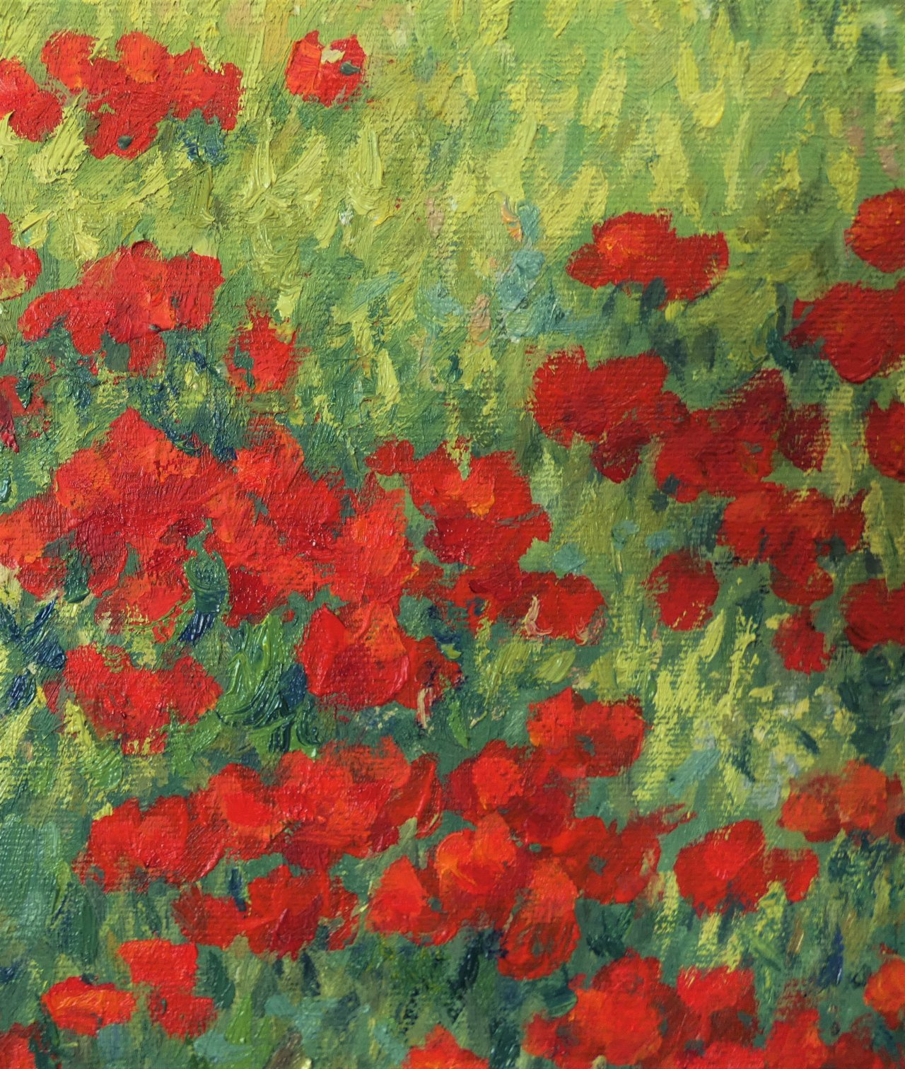 My painting is about spring, spring is about flowers, strong colors and joy