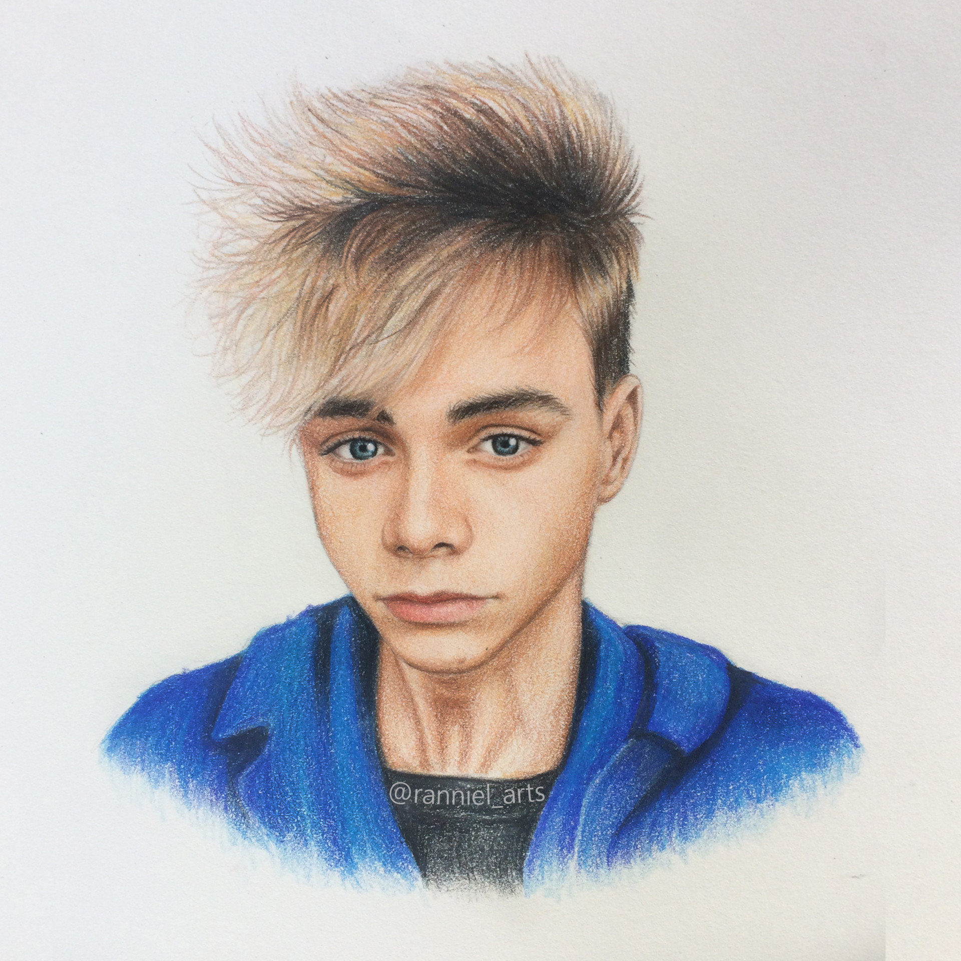 It is a graphic of Ambitious Daniel Seavey Drawing