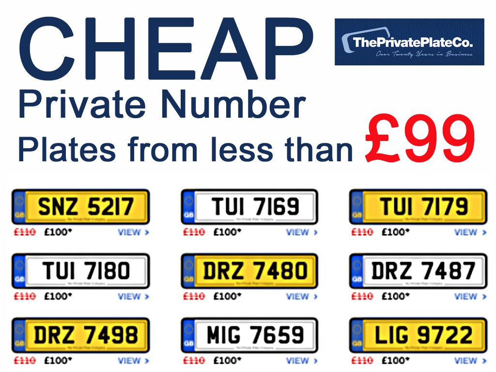 Cheap Private number plates | Spares & Accessories
